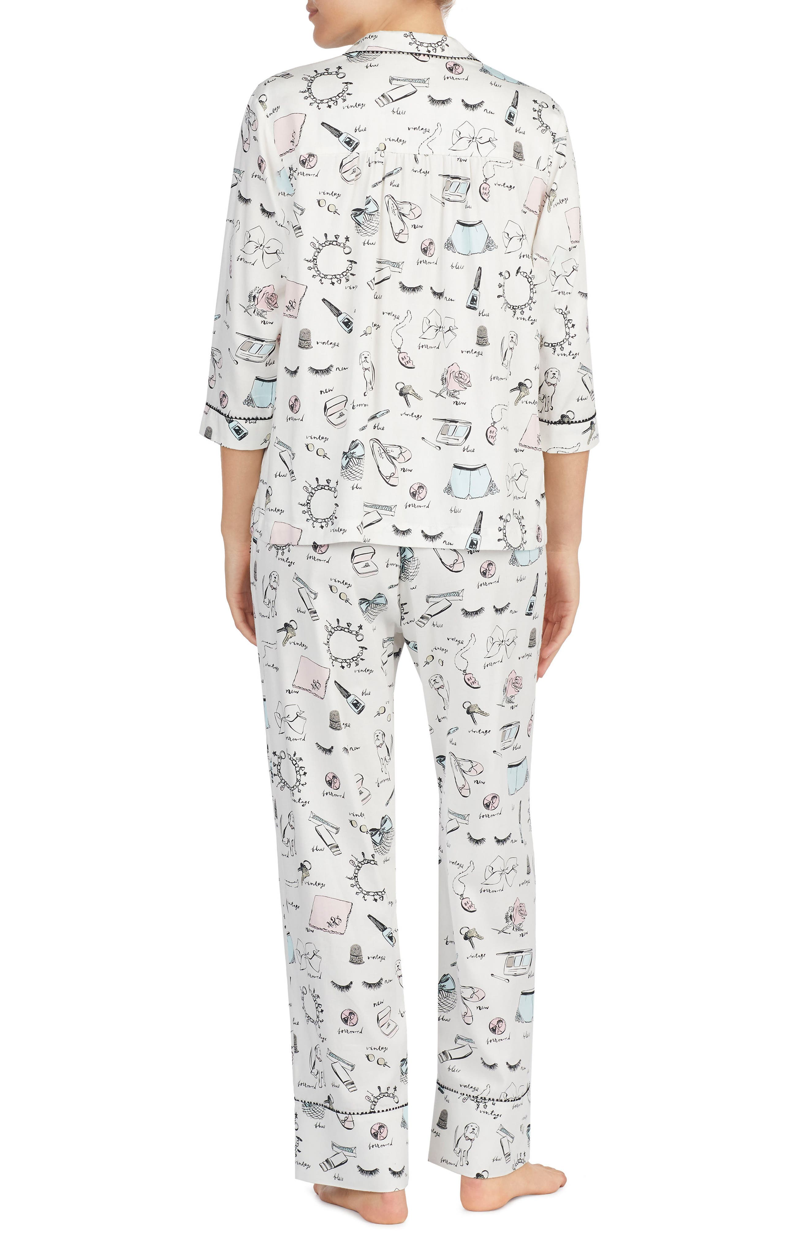 print pajamas,                             Alternate thumbnail 2, color,                             115