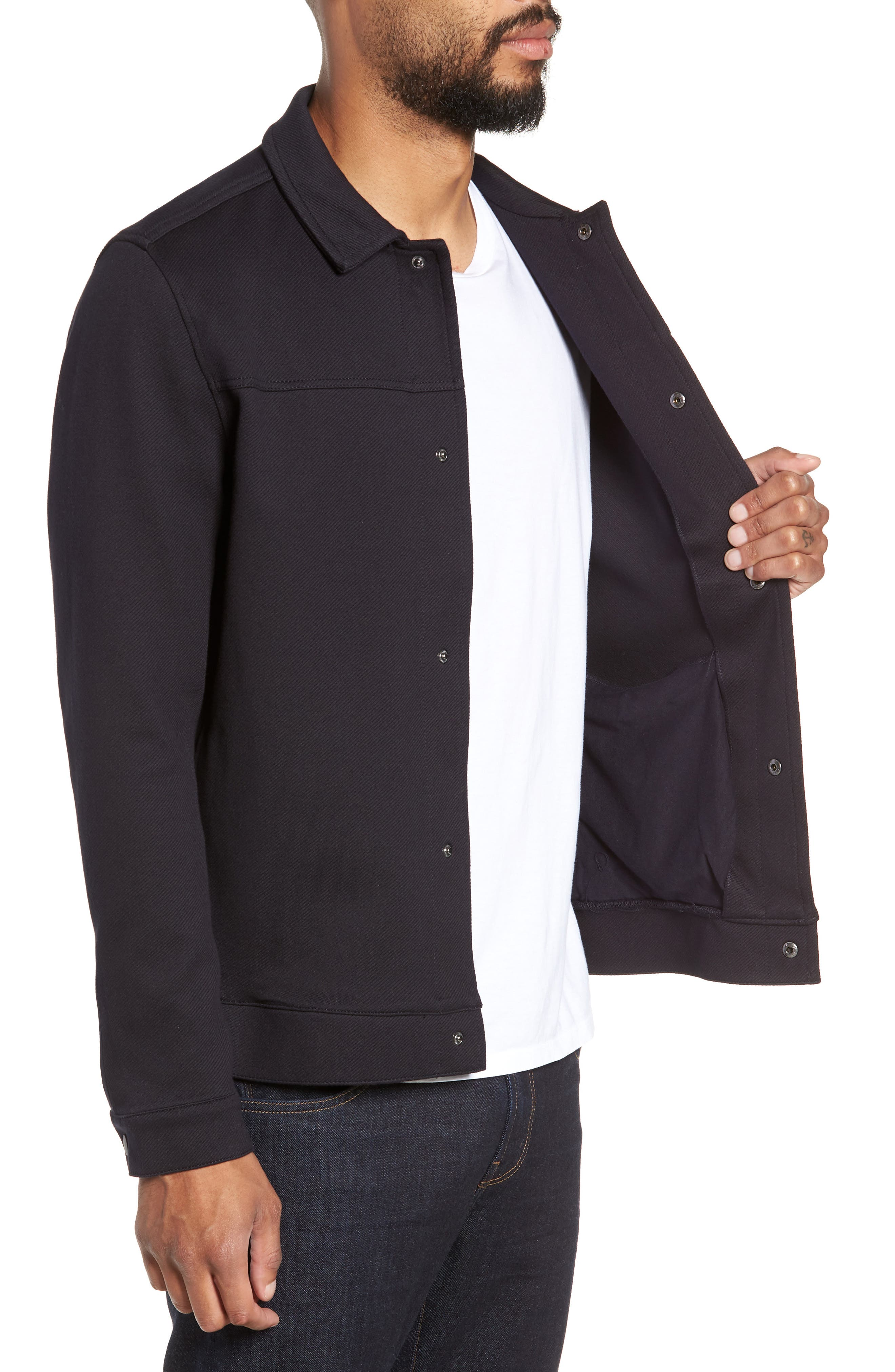 Marcus Regular Fit Jacket,                             Alternate thumbnail 3, color,                             NIGHT SKY
