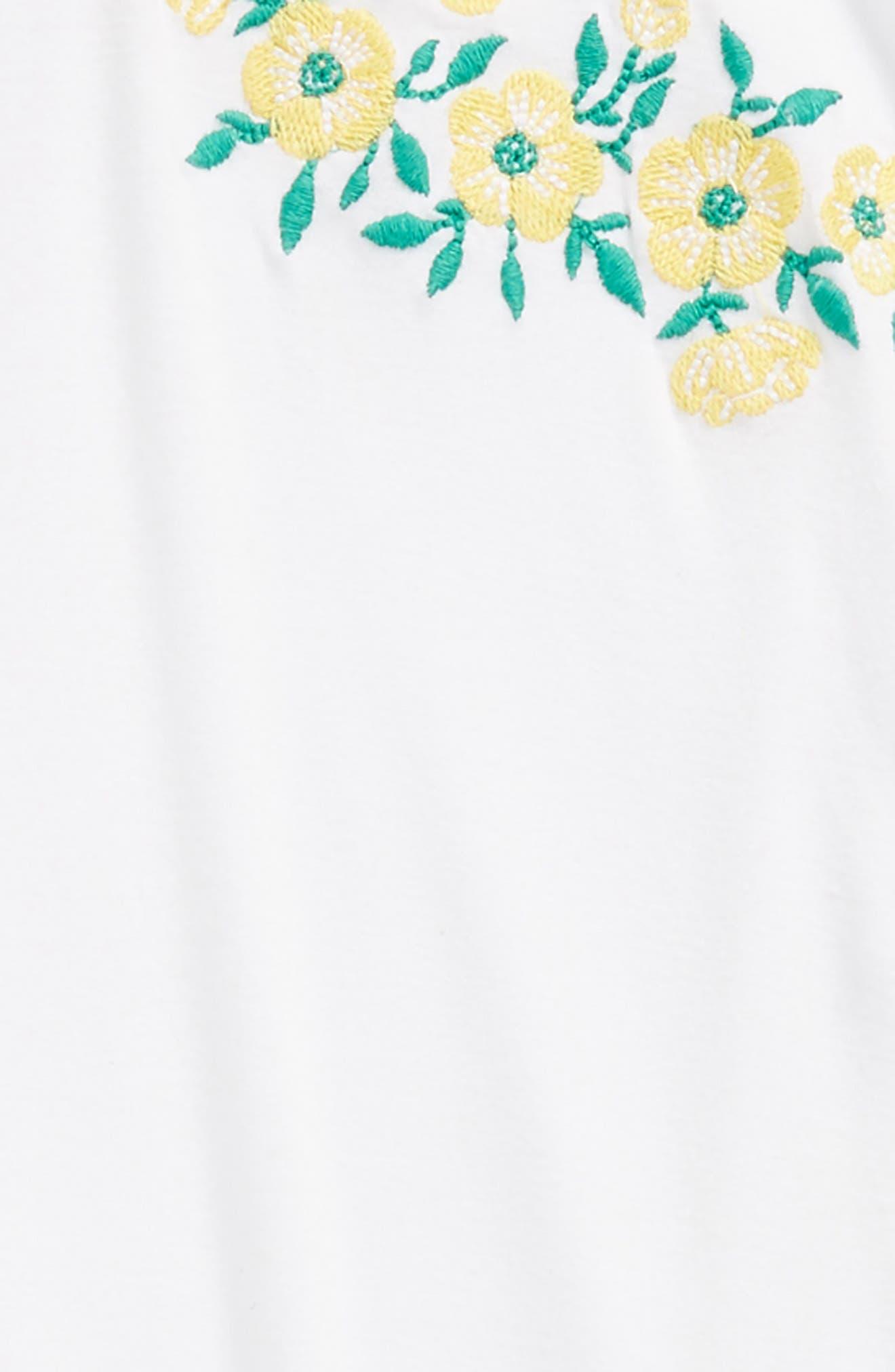Embroidered Tee,                             Alternate thumbnail 2, color,                             WHITE