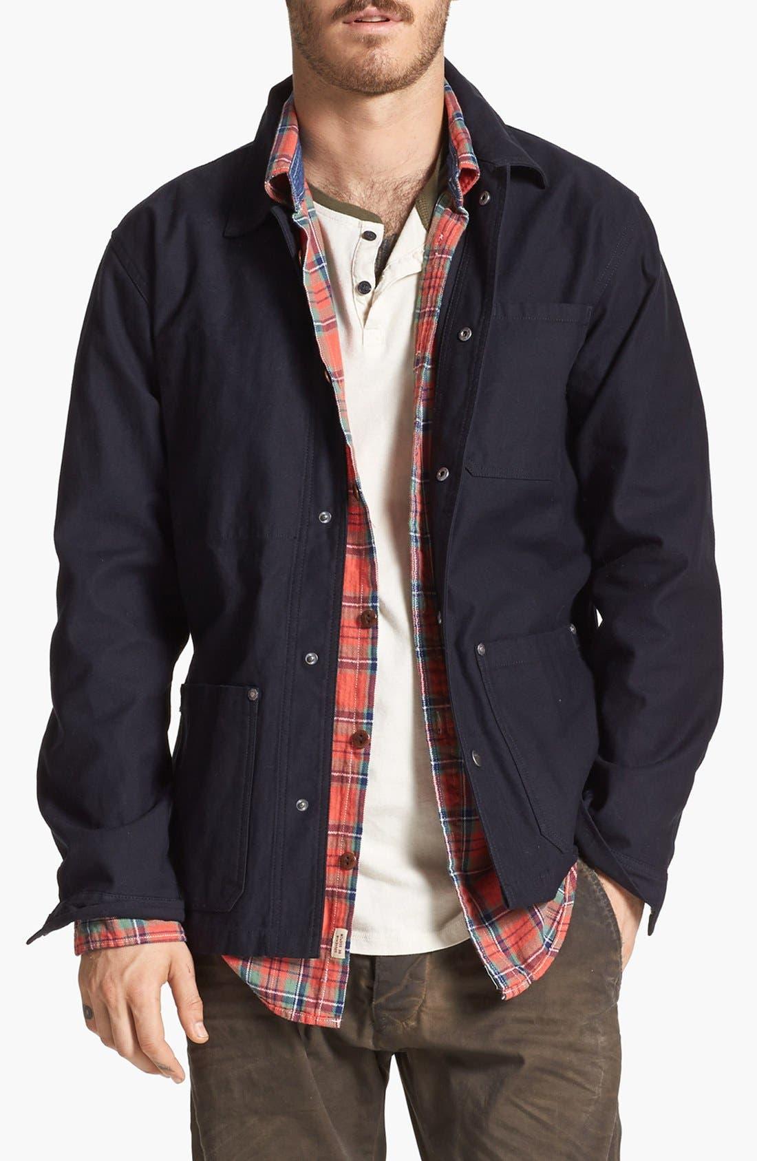 'Survey' Twill Jacket, Main, color, 001