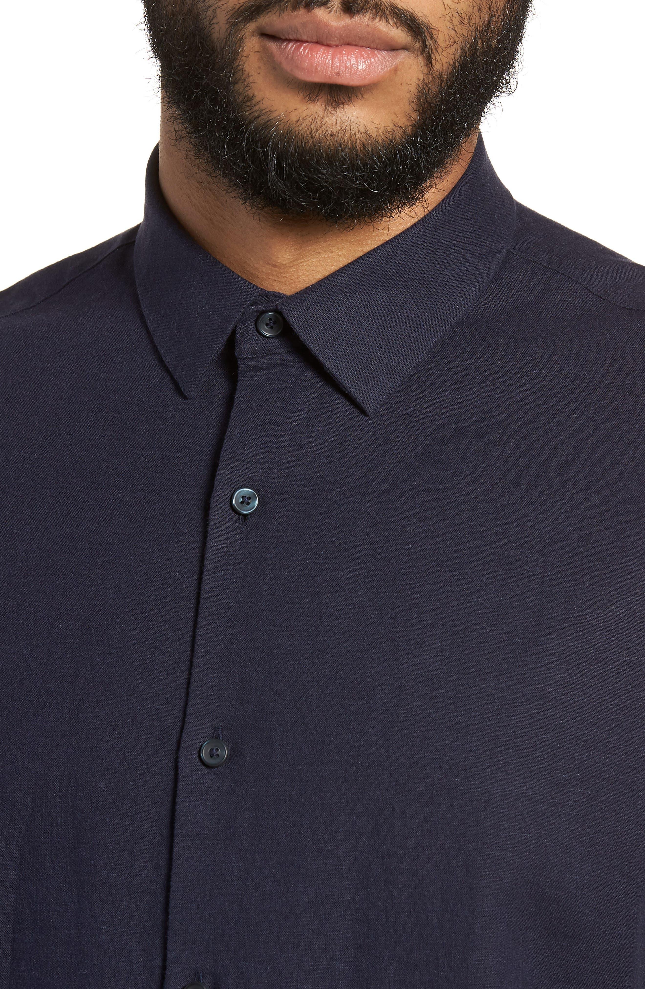 Linen Blend Sport Shirt,                             Alternate thumbnail 12, color,