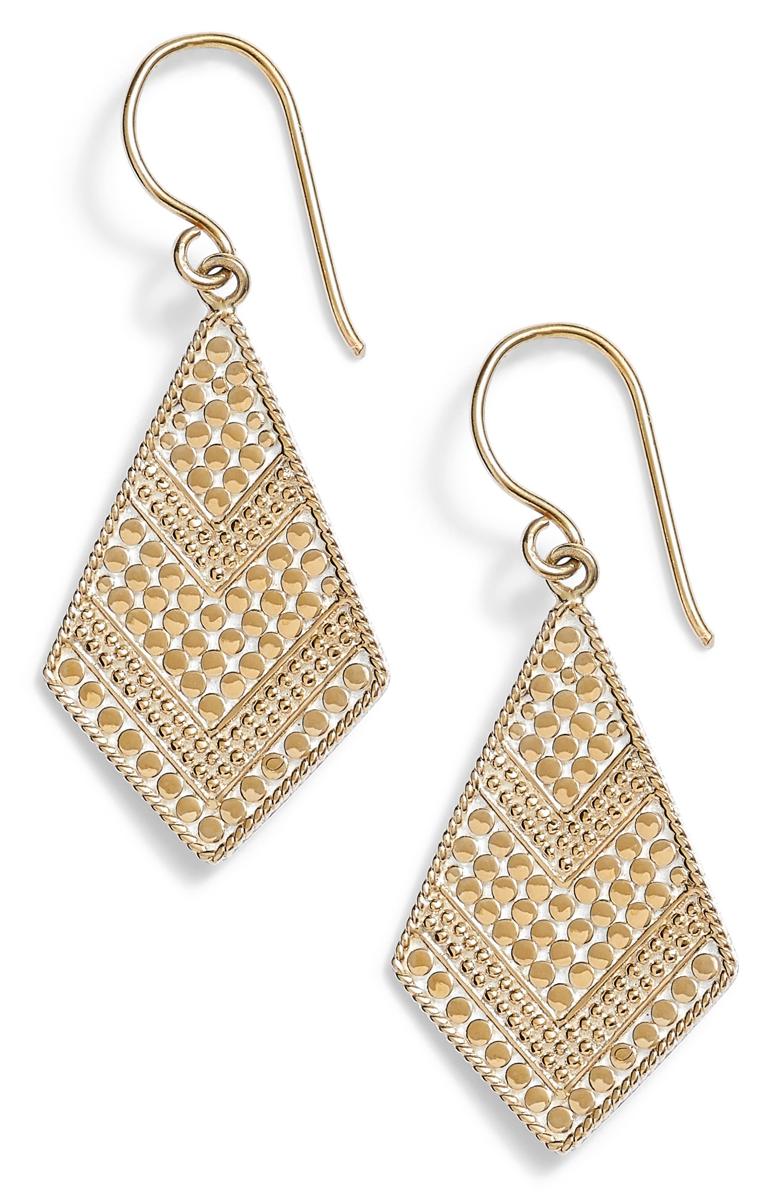 Gold Kite Drop Earrings,                             Main thumbnail 1, color,                             710