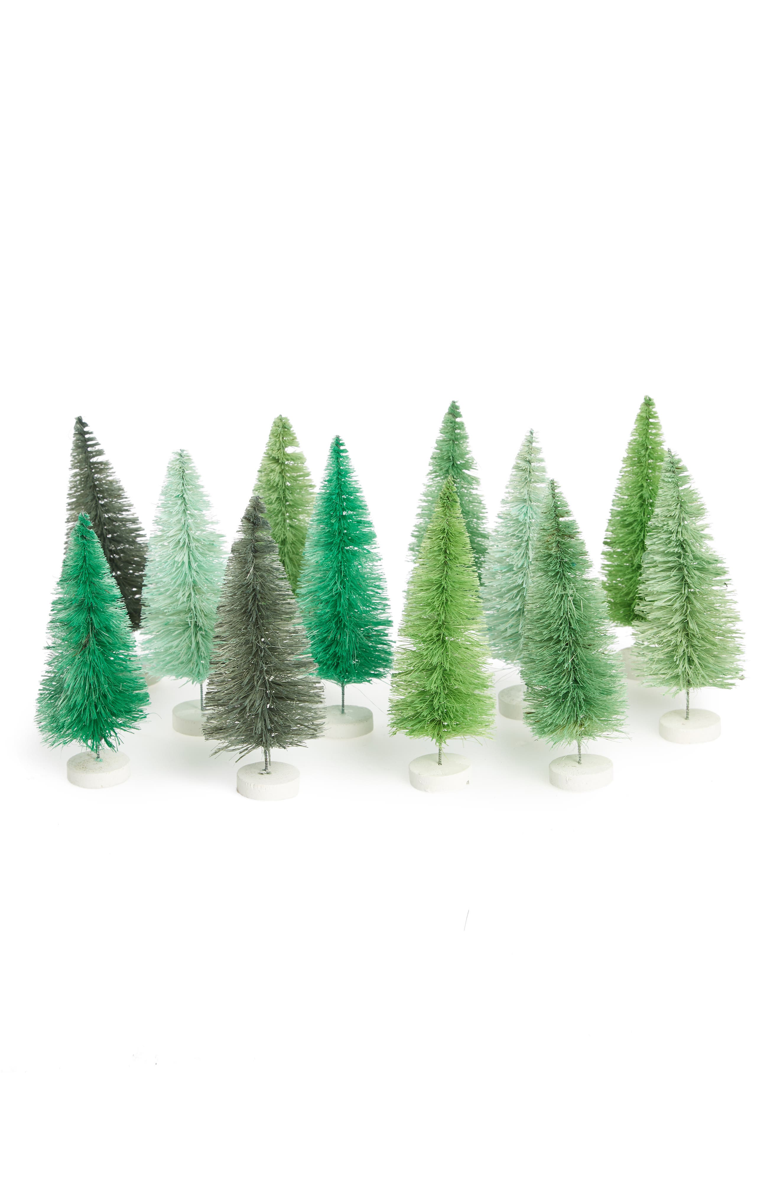 Hue Set of 12 Brush Trees,                         Main,                         color, 300