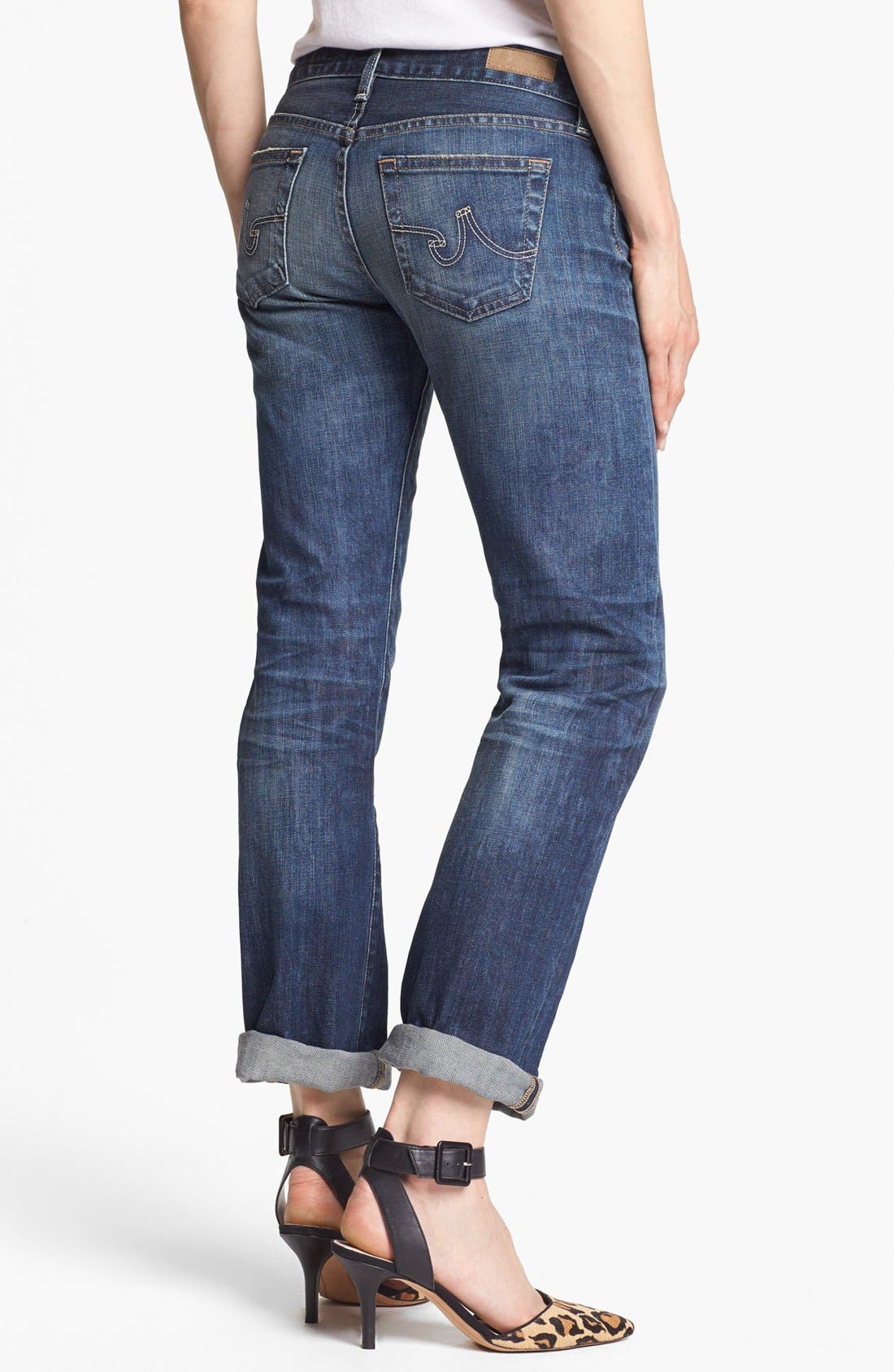 'The Tomboy' Relaxed Straight Leg Jeans,                             Alternate thumbnail 6, color,