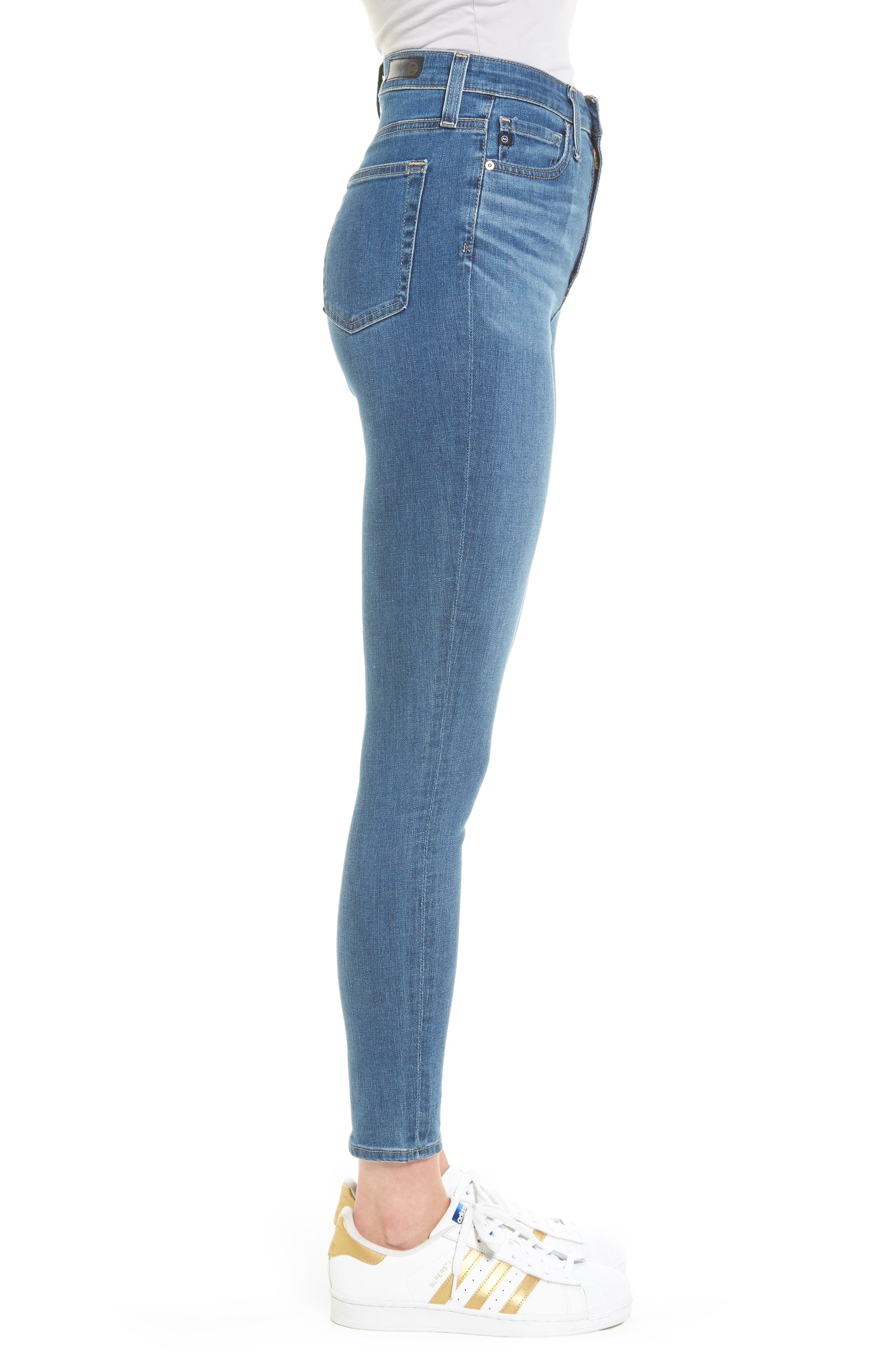 Mila High Waist Ankle Skinny Jeans,                             Alternate thumbnail 3, color,                             416