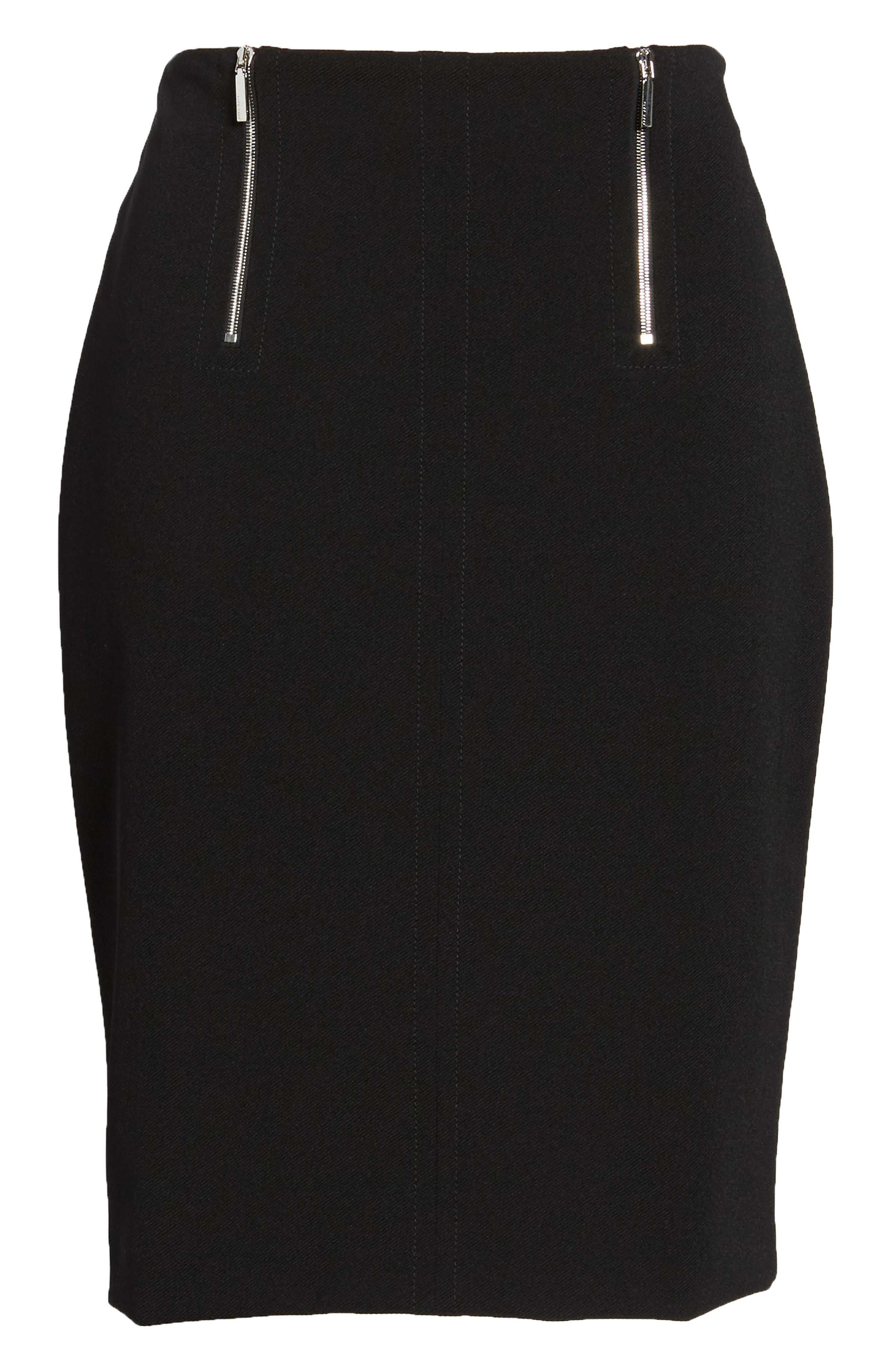 Vinueza Twill Jersey Suit Skirt,                             Alternate thumbnail 6, color,                             001
