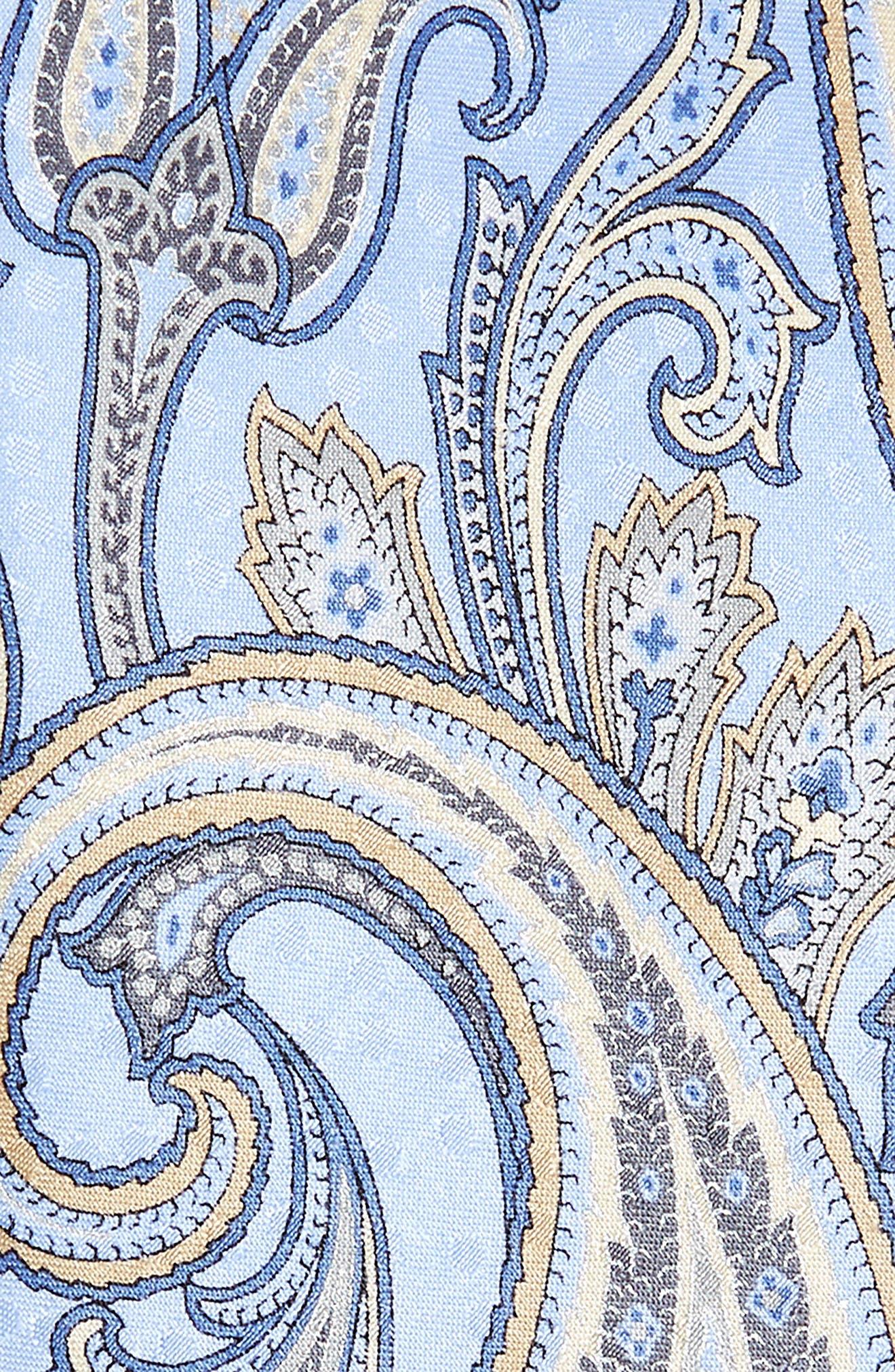 Paisley Silk Tie,                             Alternate thumbnail 2, color,                             425