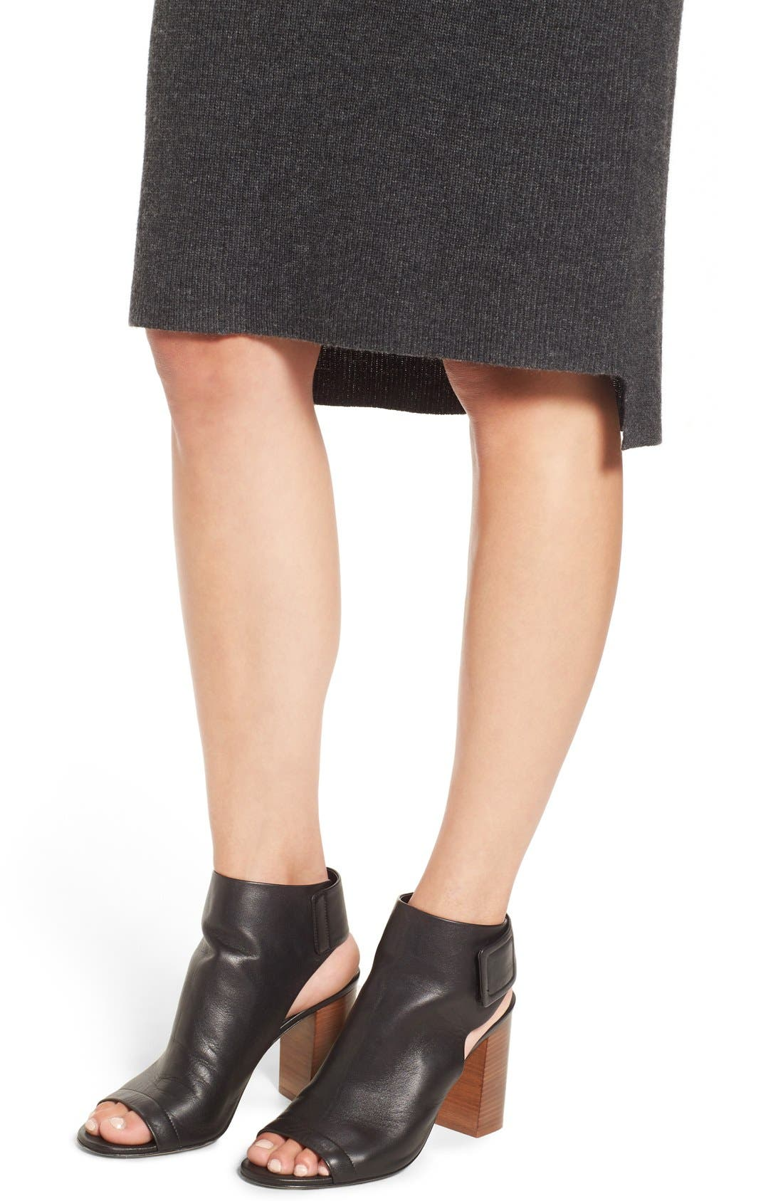 Rib Knit Sweater Skirt,                             Alternate thumbnail 5, color,                             030