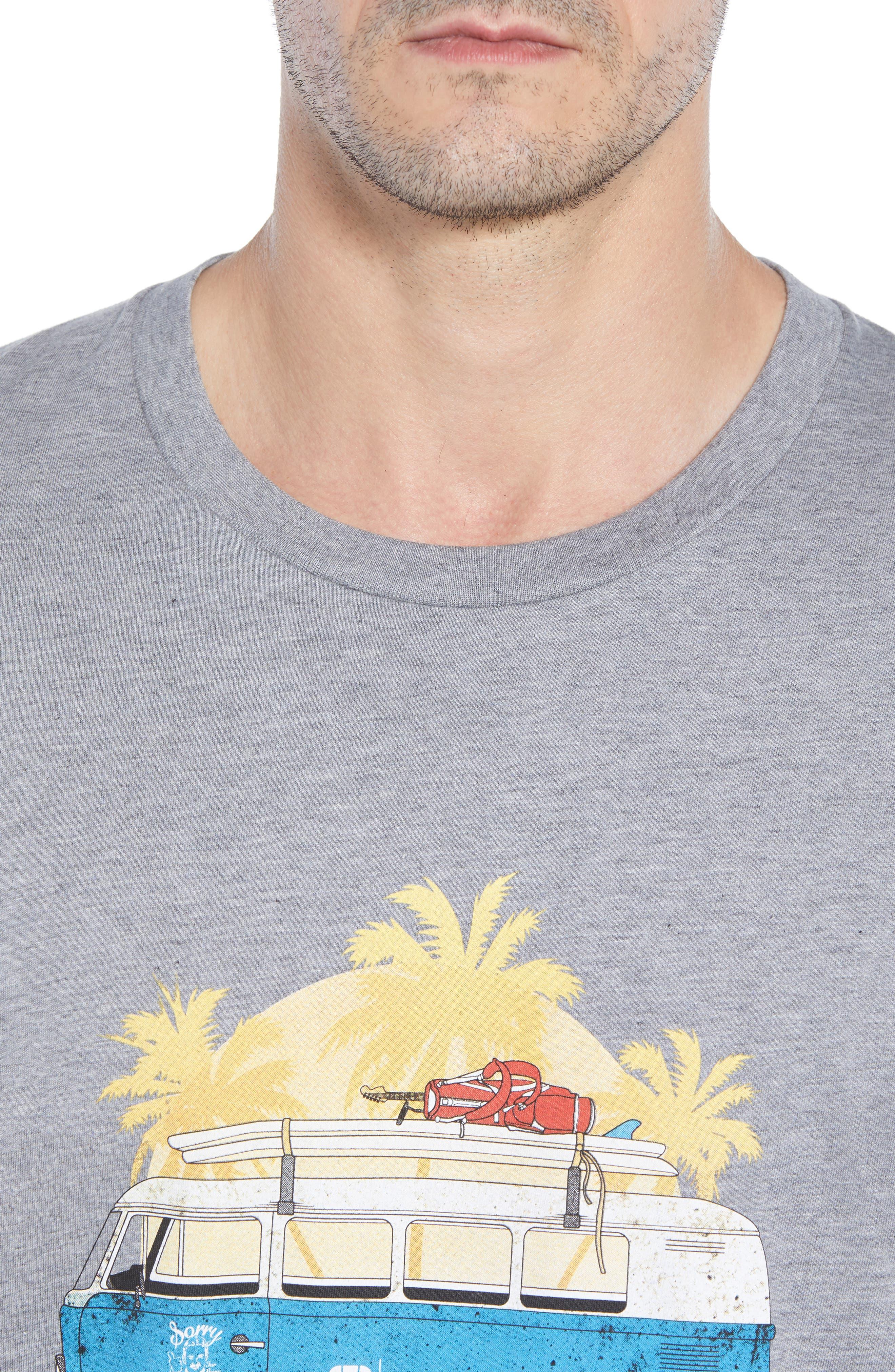 Shibby Crewneck T-Shirt,                             Alternate thumbnail 4, color,                             HEATHER GREY