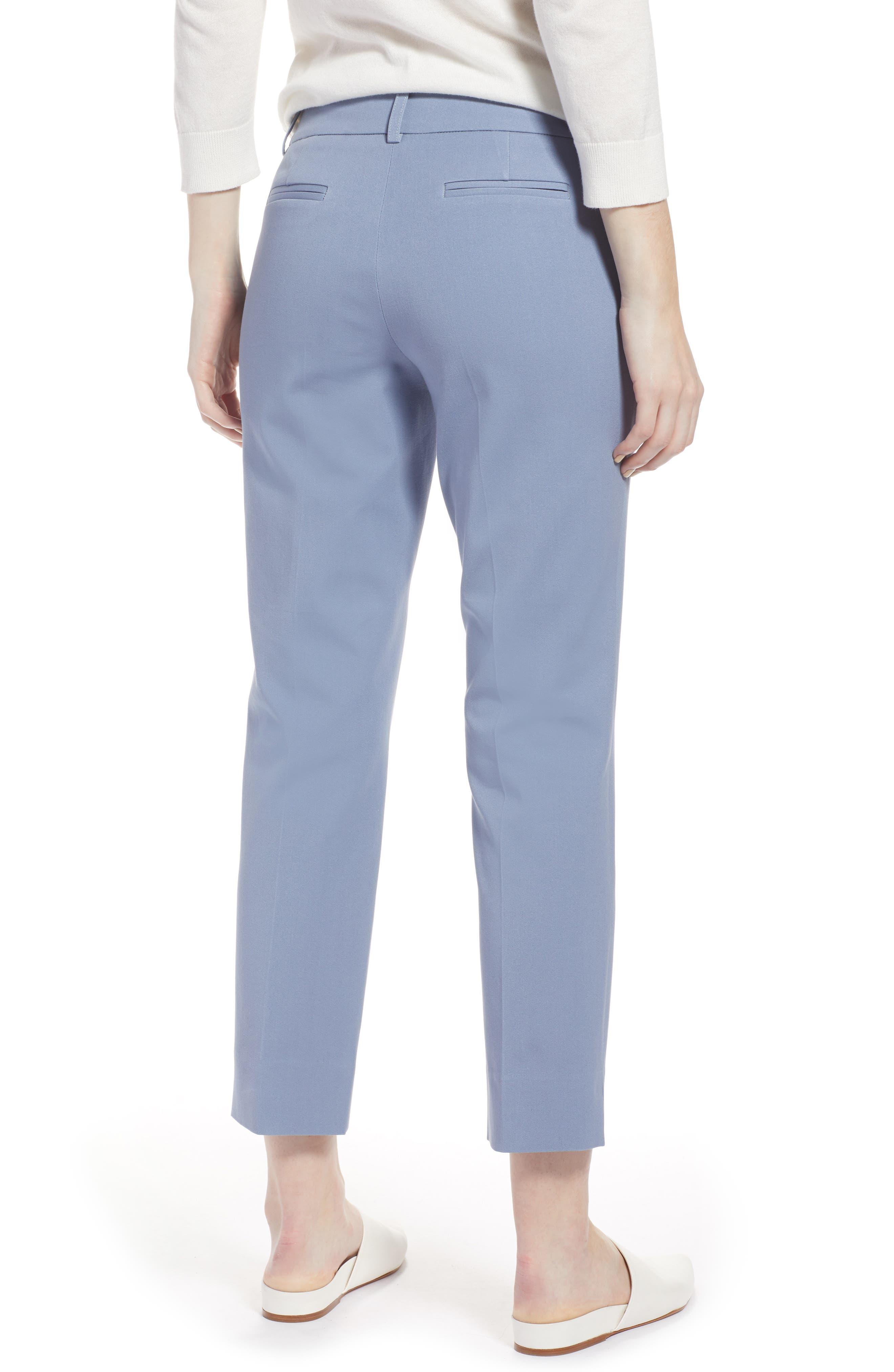 Crop Stretch Cotton Pants,                             Alternate thumbnail 25, color,