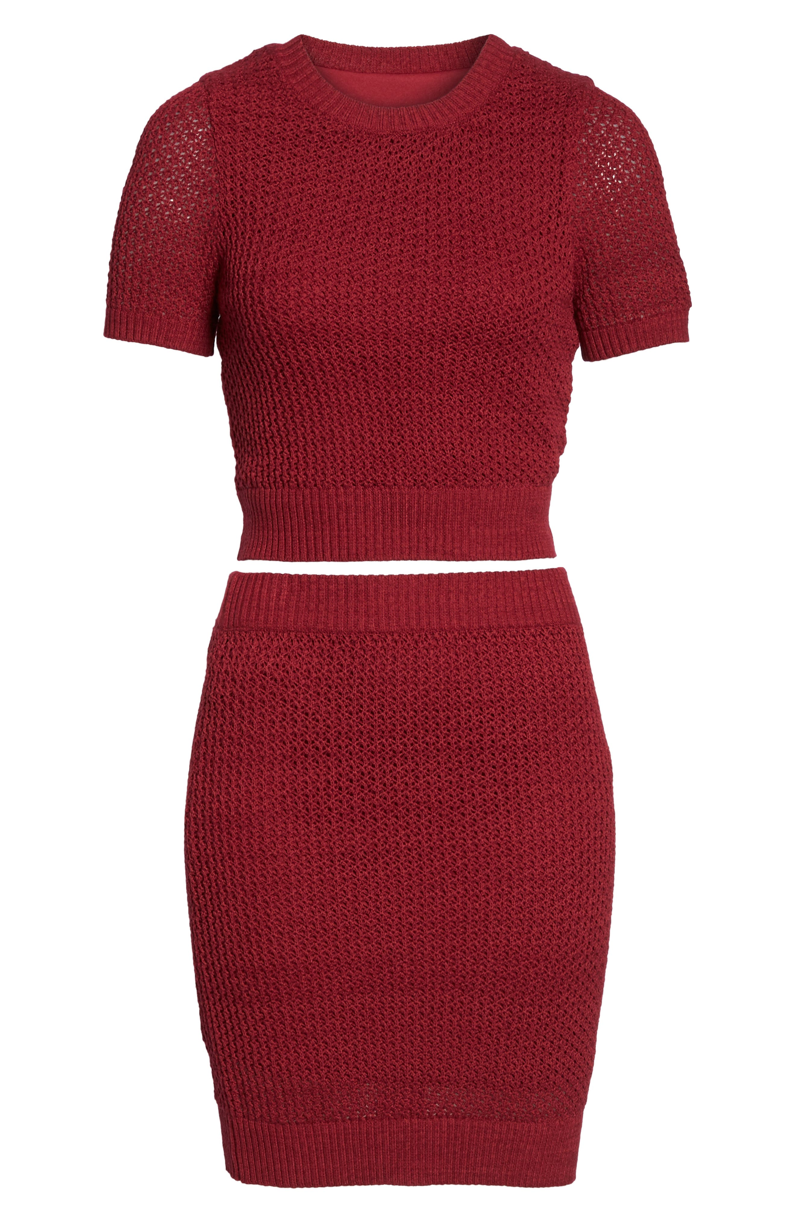 Two-Piece Sweater Dress,                             Alternate thumbnail 6, color,