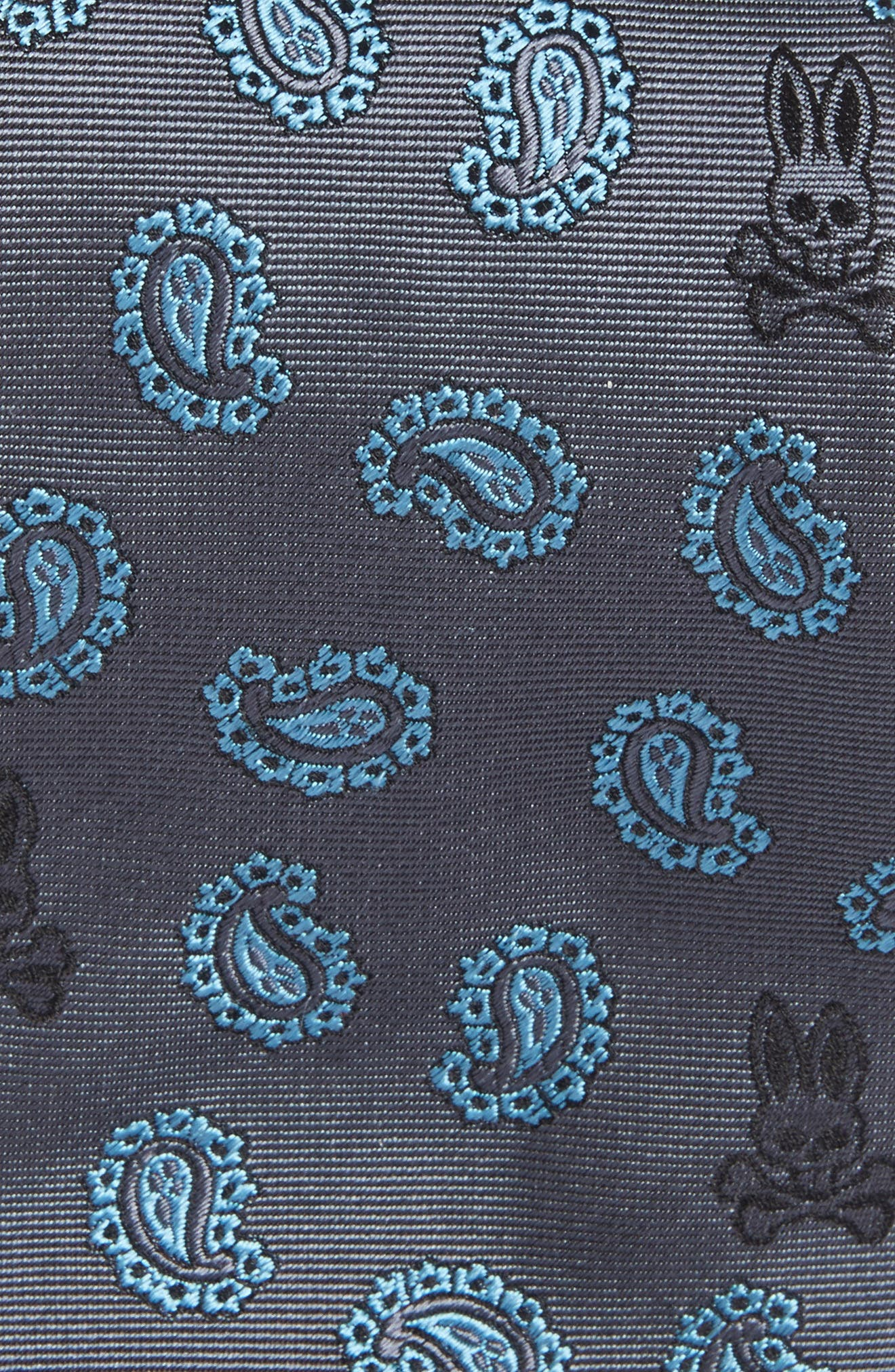 Paisley Bunny Silk Tie,                             Alternate thumbnail 2, color,                             020