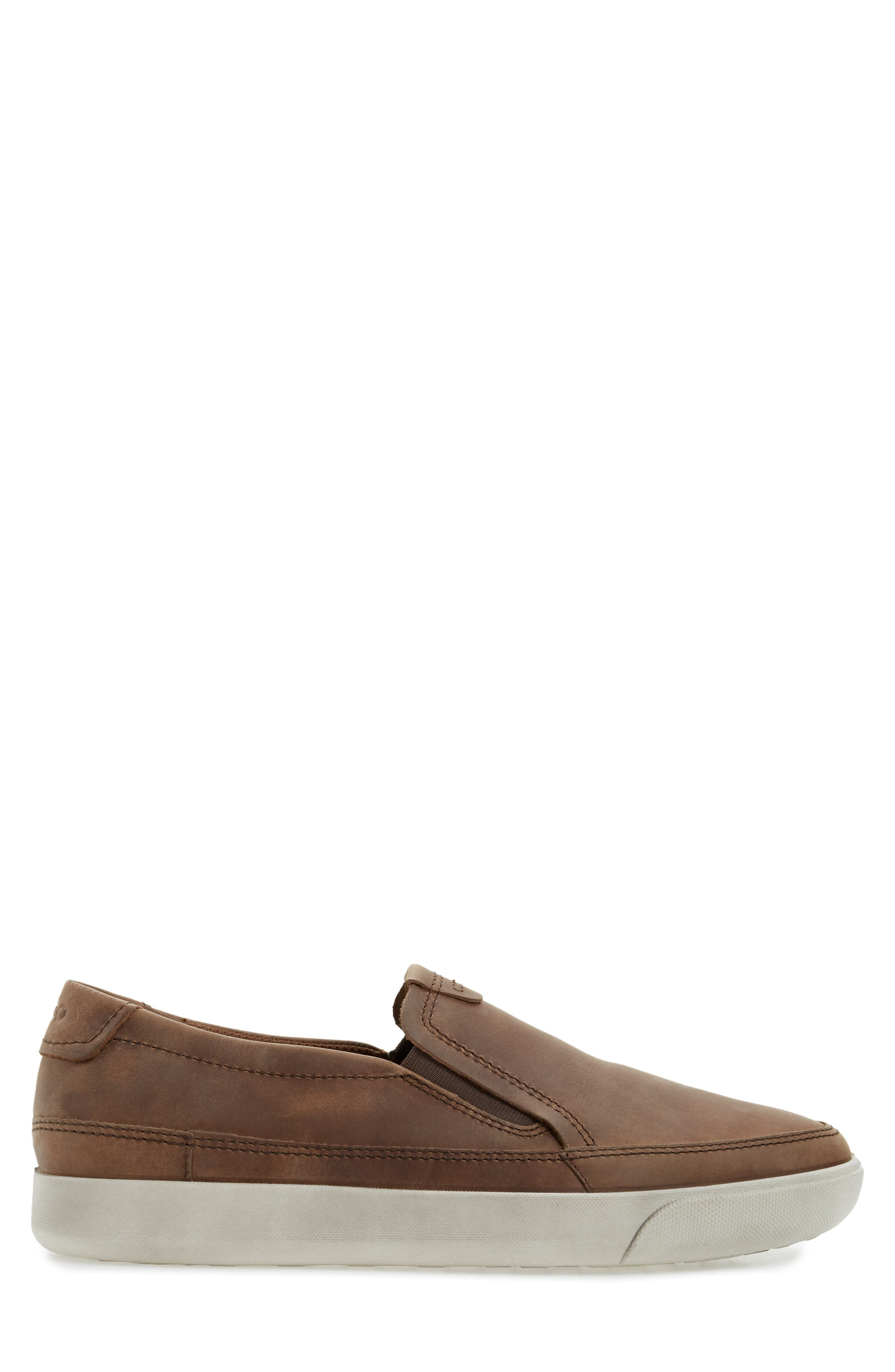'Gary' Slip-On,                             Alternate thumbnail 3, color,                             COCOA BROWN LEATHER