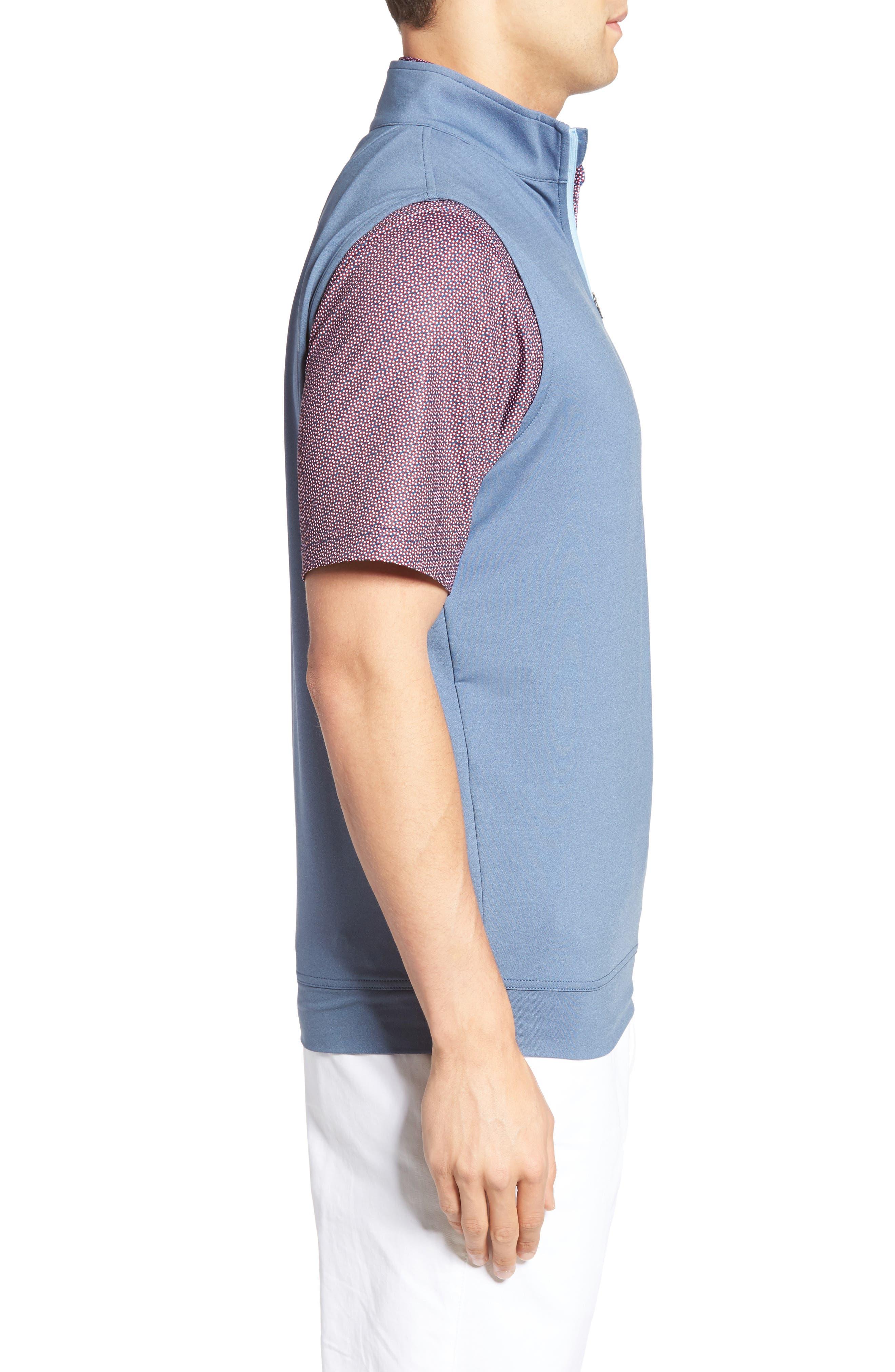 Galway Quarter Zip Vest,                             Alternate thumbnail 3, color,                             402