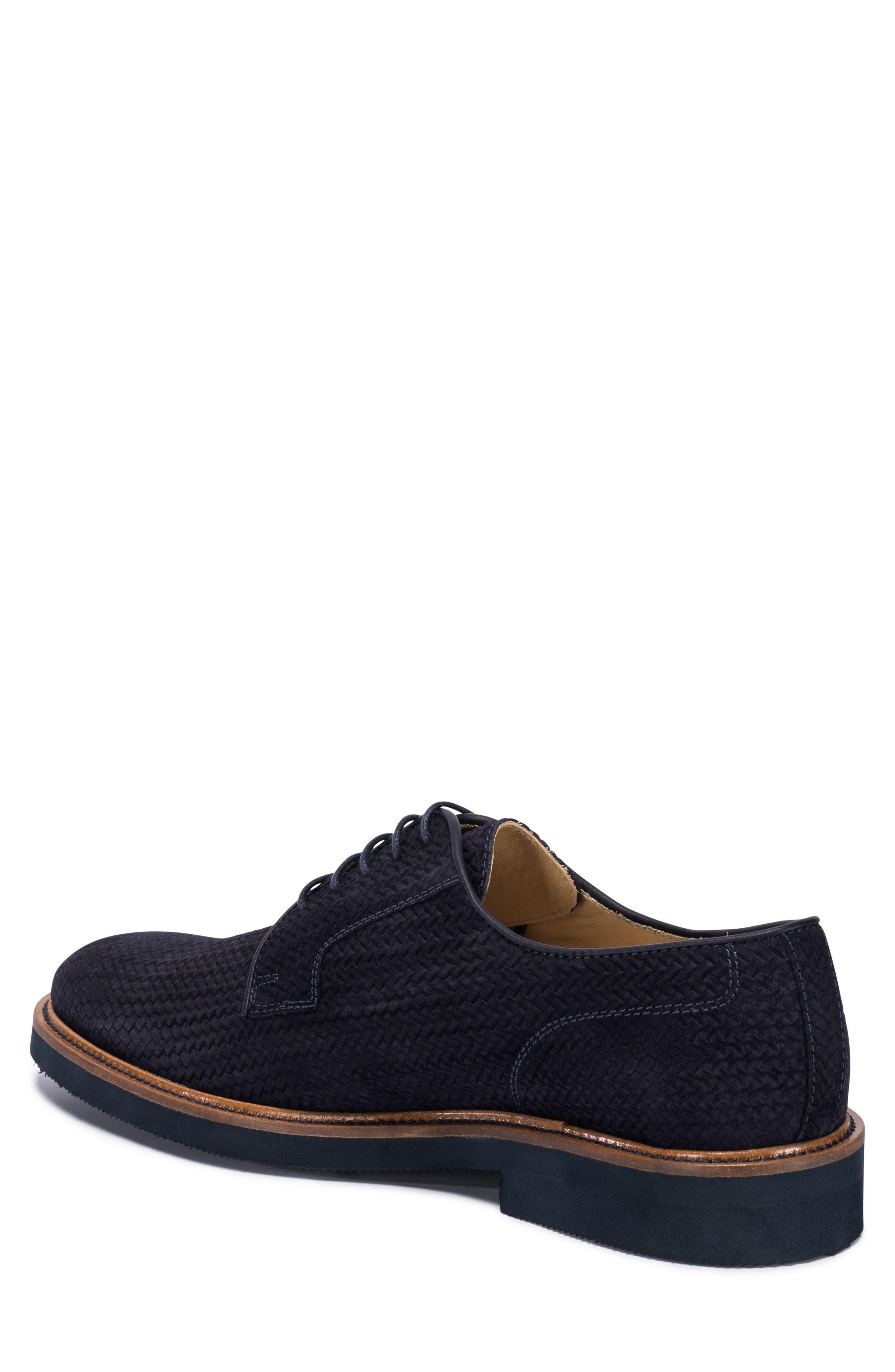 Woven Plain Toe Derby,                             Alternate thumbnail 2, color,                             BLUE SUEDE