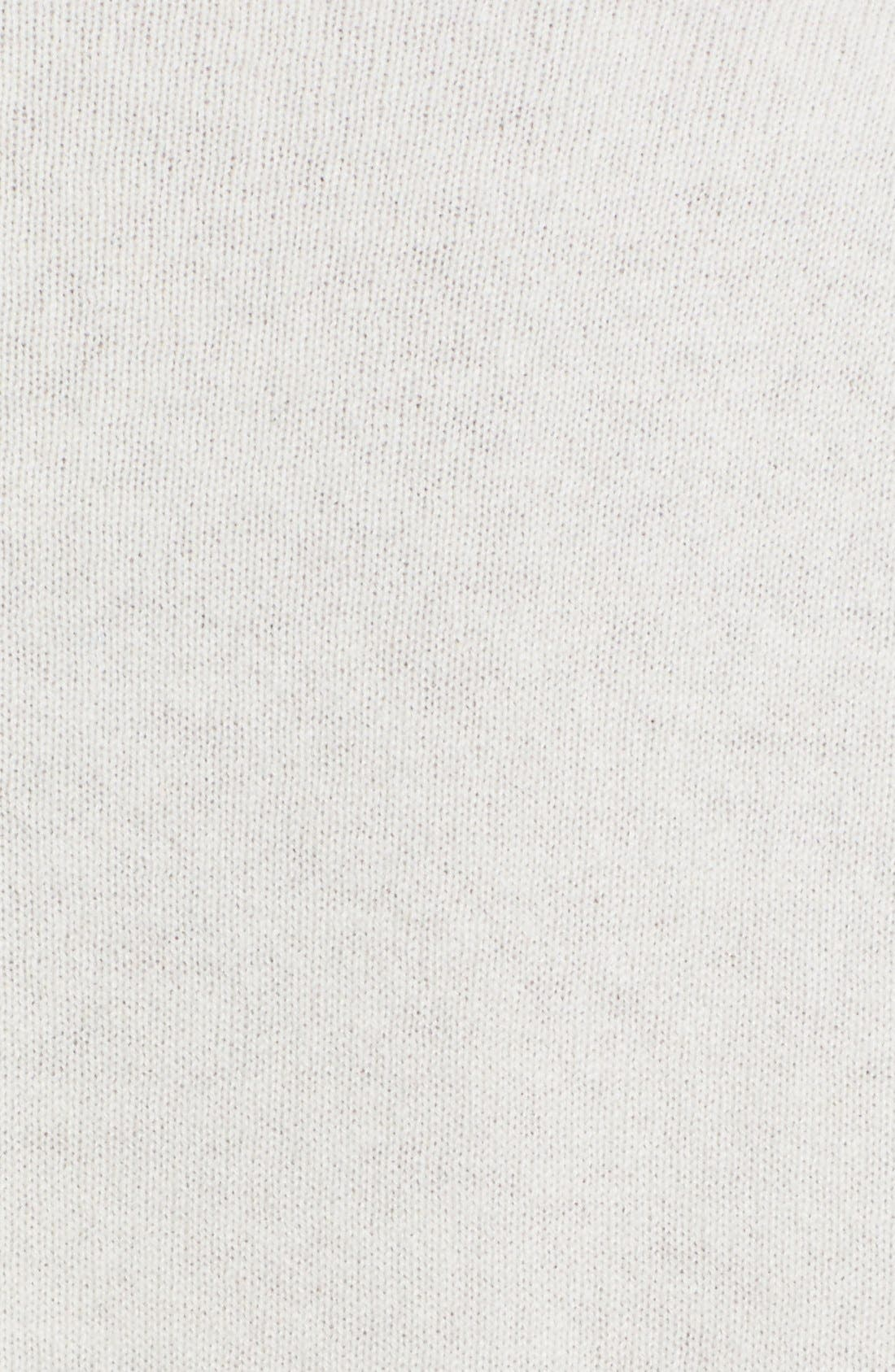 Shirttail Cashmere Sweater,                             Alternate thumbnail 5, color,                             101