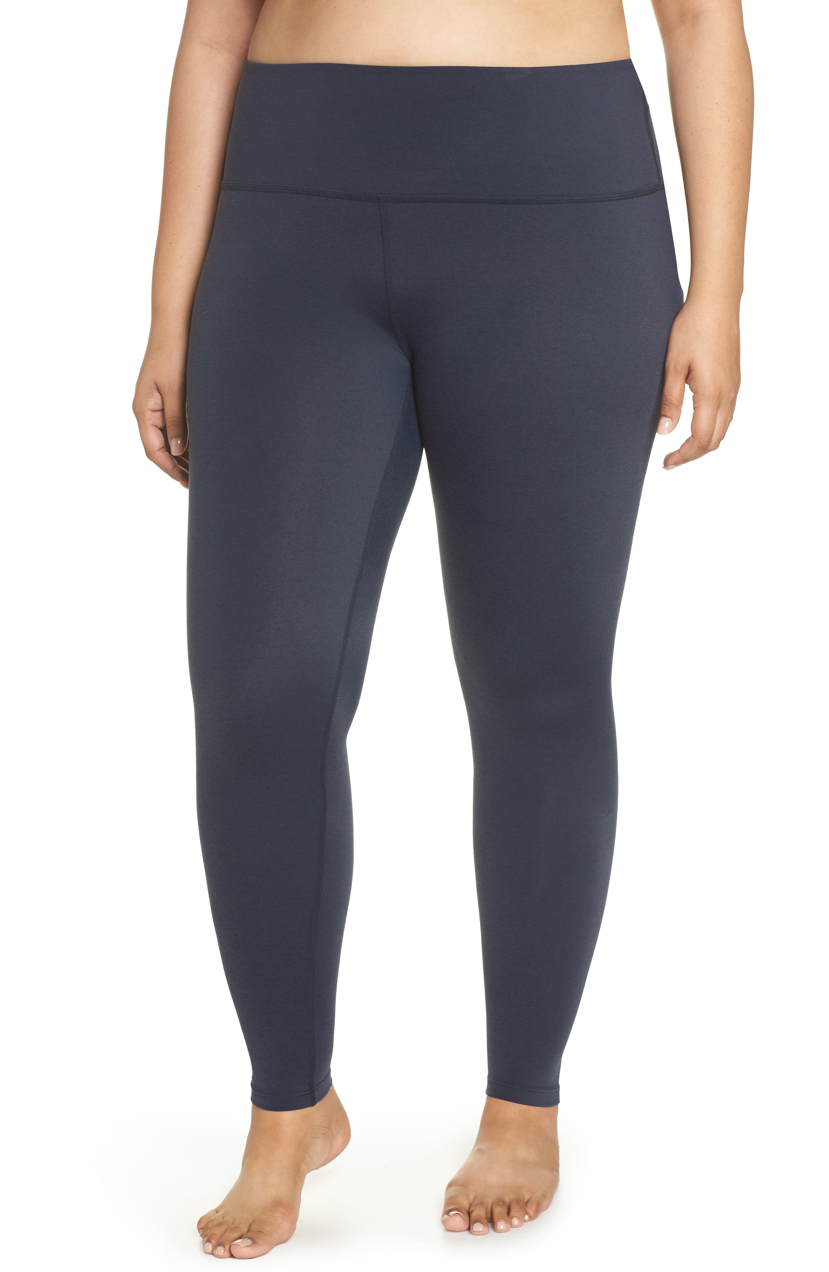 Plush High Waist Leggings,                         Main,                         color, NOCTURNAL NAVY HEATHER