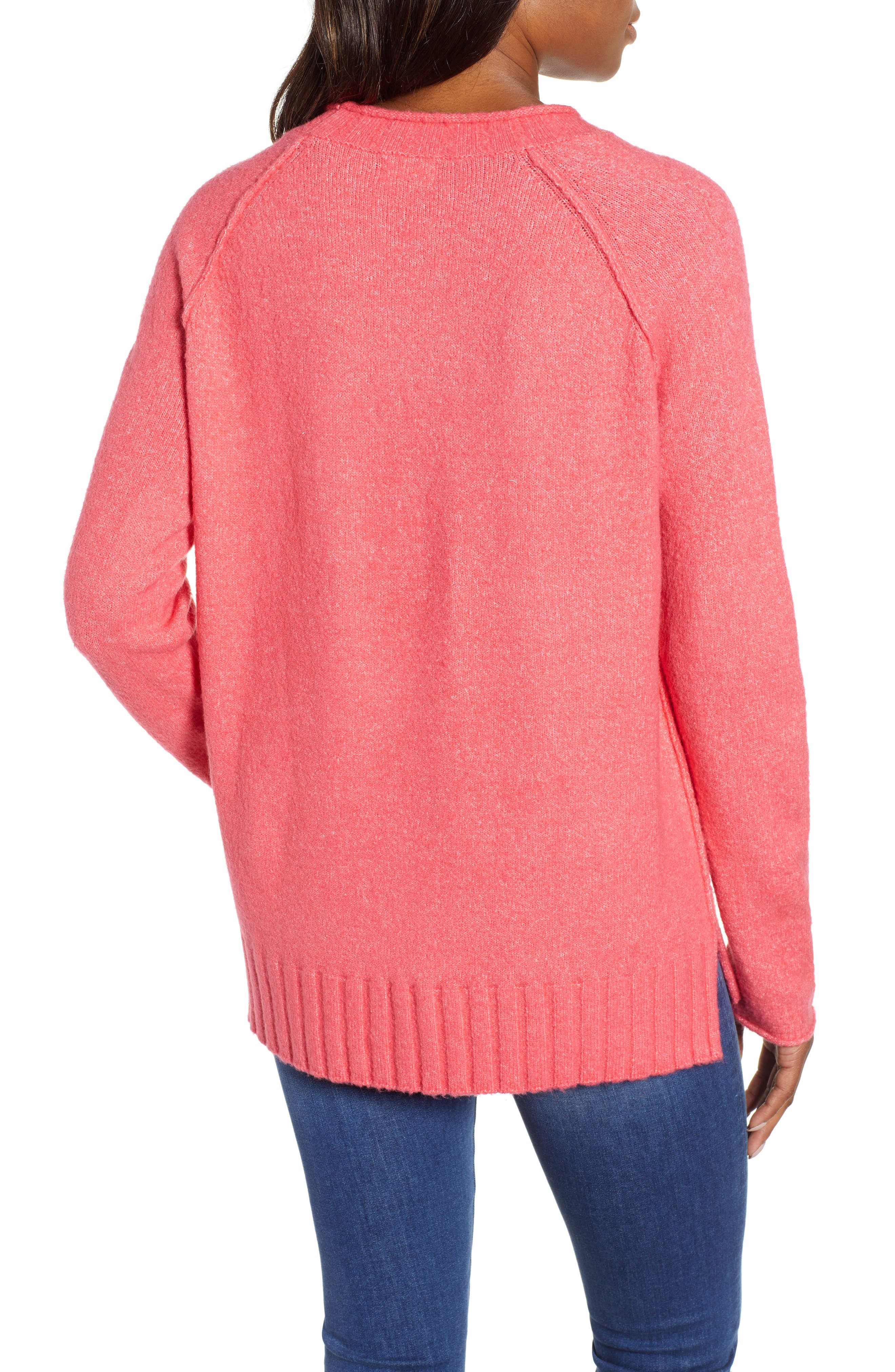 Cozy Crewneck Sweater,                             Alternate thumbnail 2, color,                             PINK HONEY