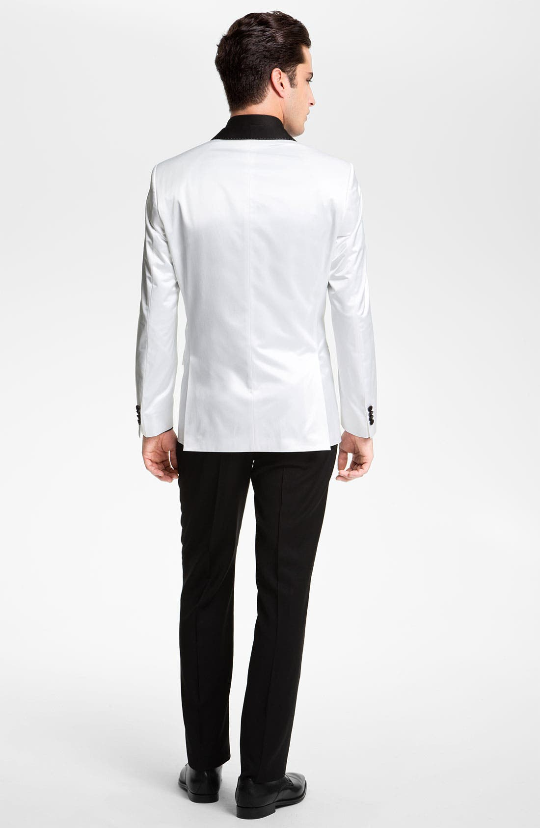 'Marlyn' Sharp Fit Stripe French Cuff Tuxedo Shirt,                             Alternate thumbnail 6, color,