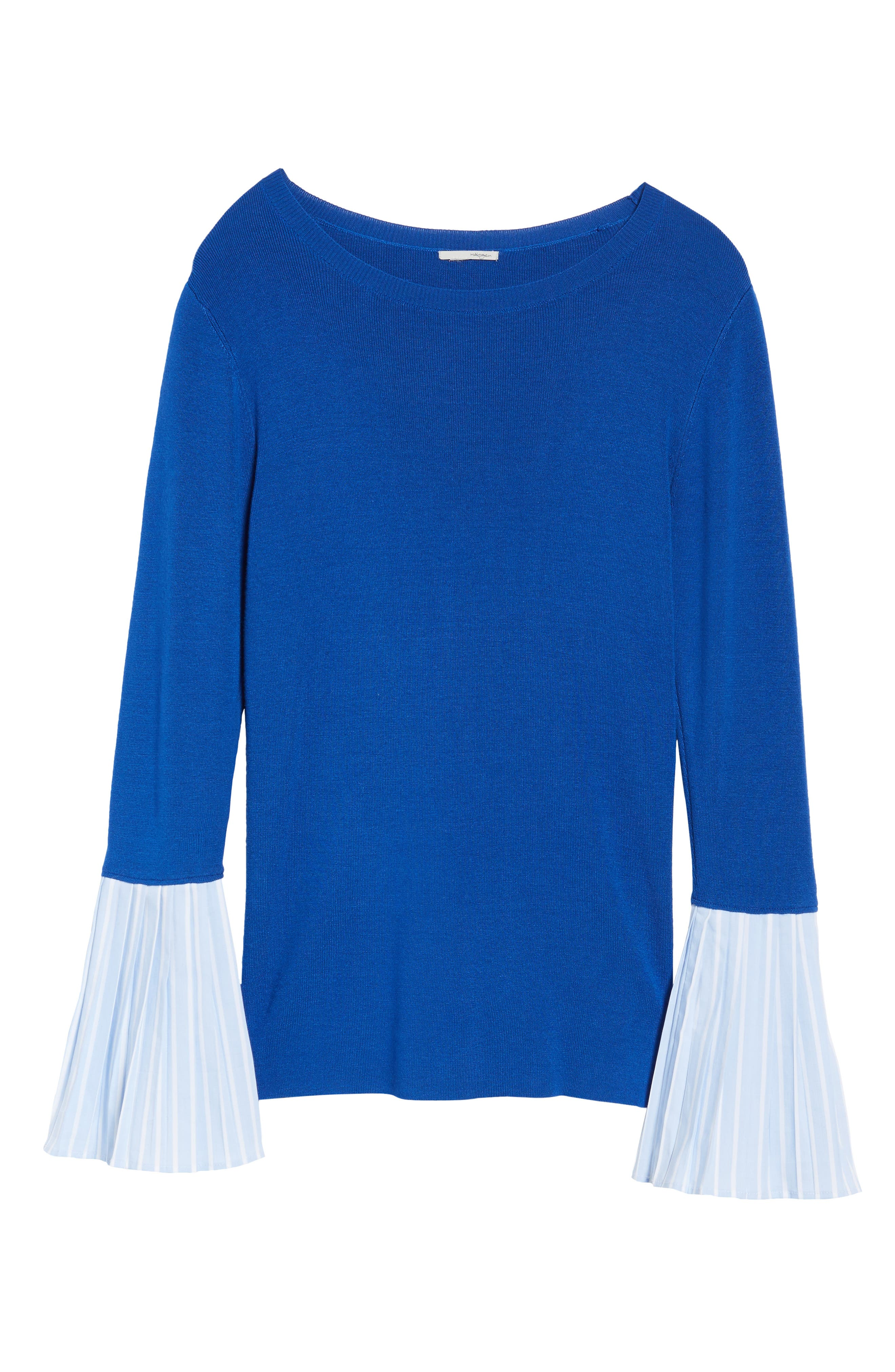 Poplin Bell Cuff Sweater,                             Alternate thumbnail 23, color,