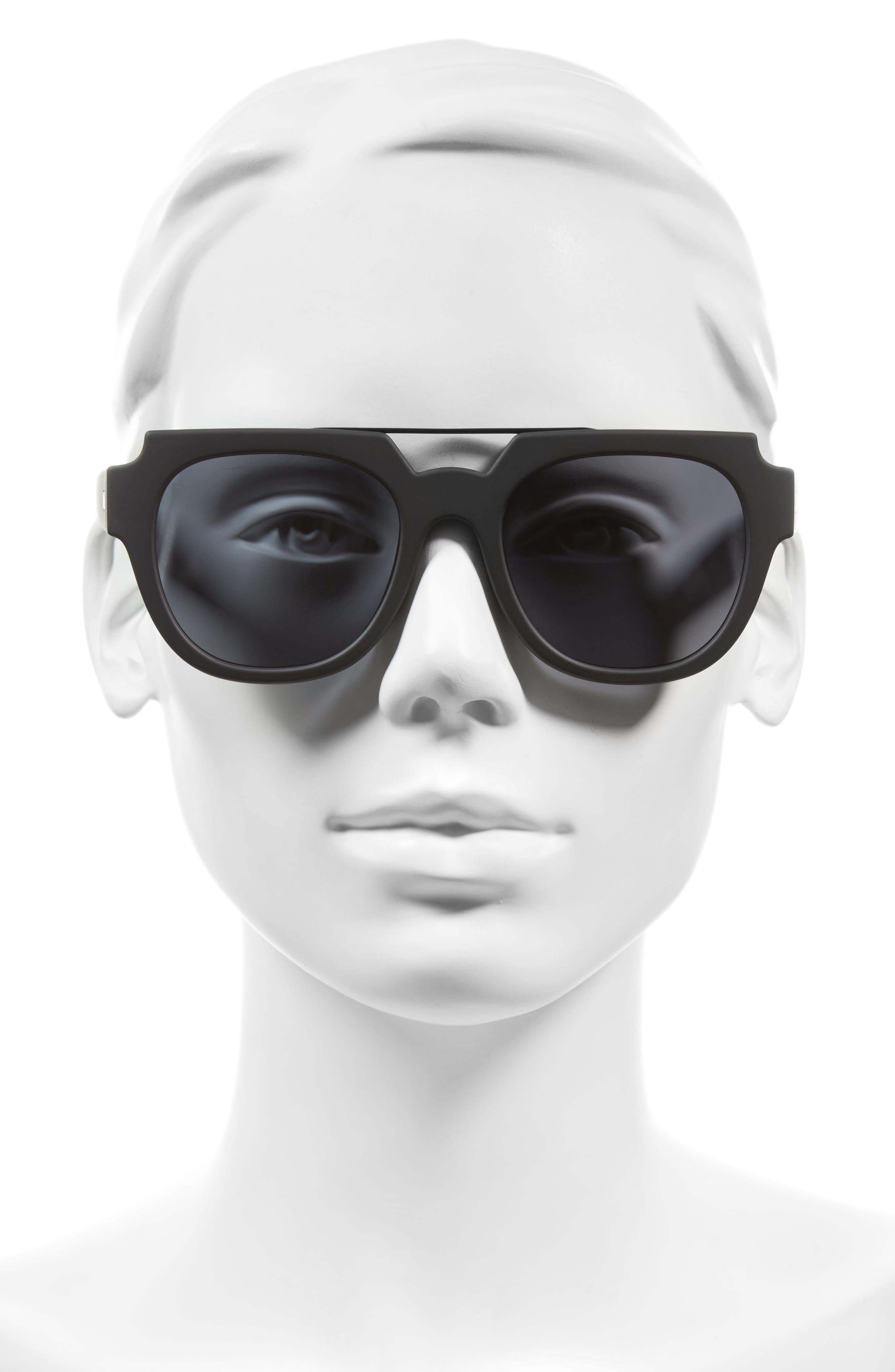 La Habana 52mm Retro Sunglasses,                             Alternate thumbnail 2, color,                             001