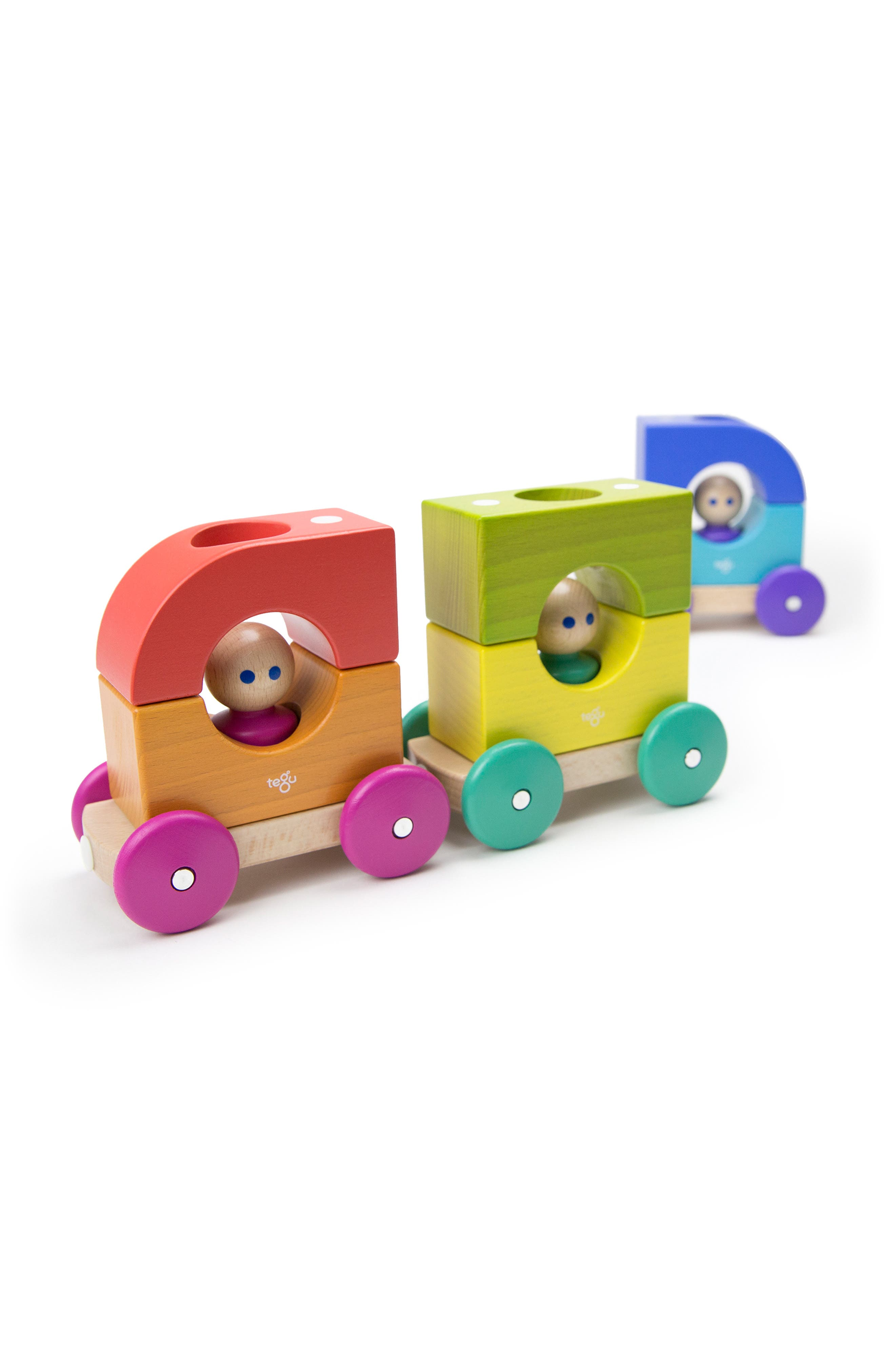Rainbow Magnetic Tram Set,                             Alternate thumbnail 12, color,                             RAINBOW