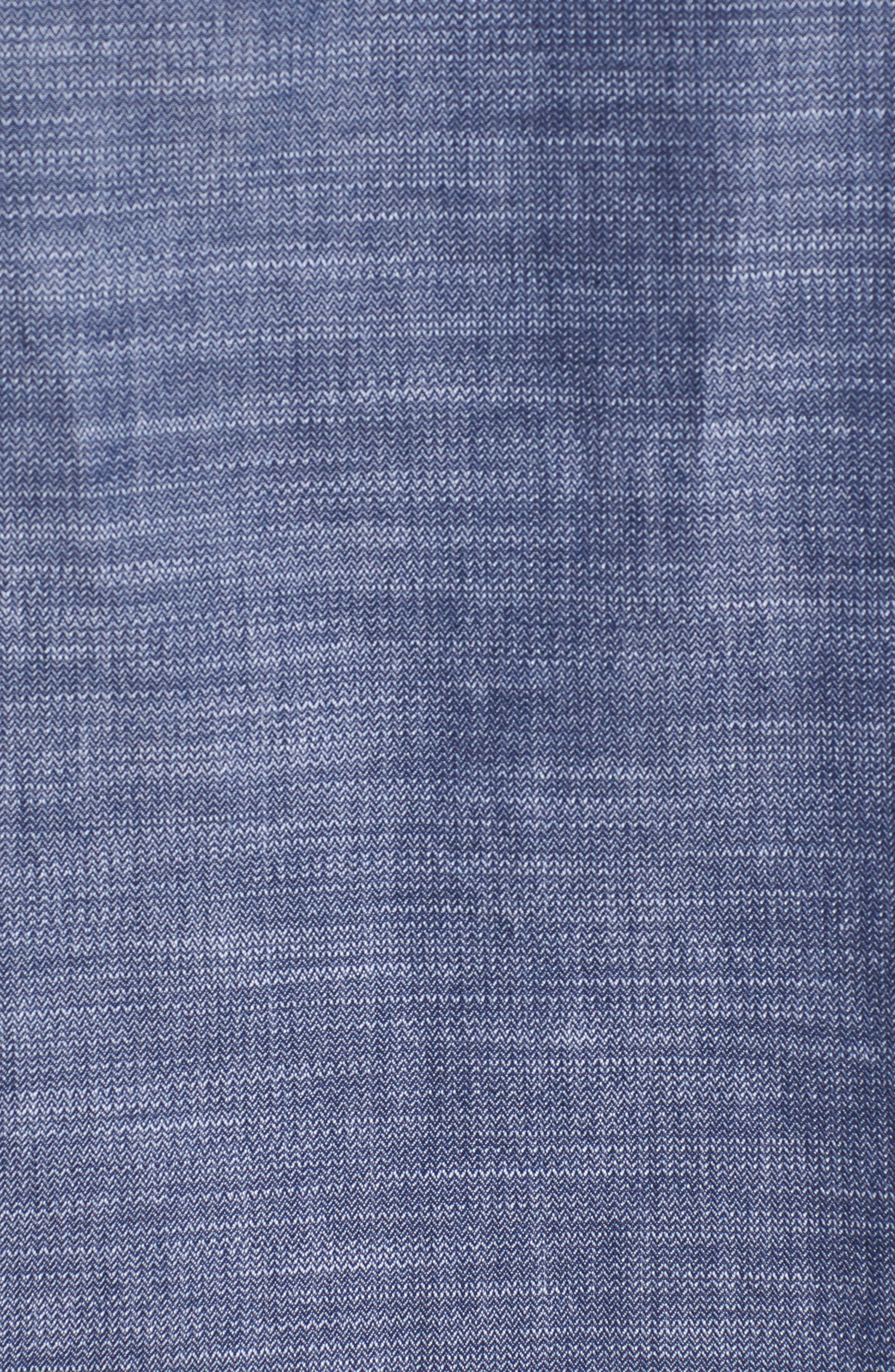 Pieced Camo Shirt,                             Alternate thumbnail 5, color,                             DARK SAPPHIRE
