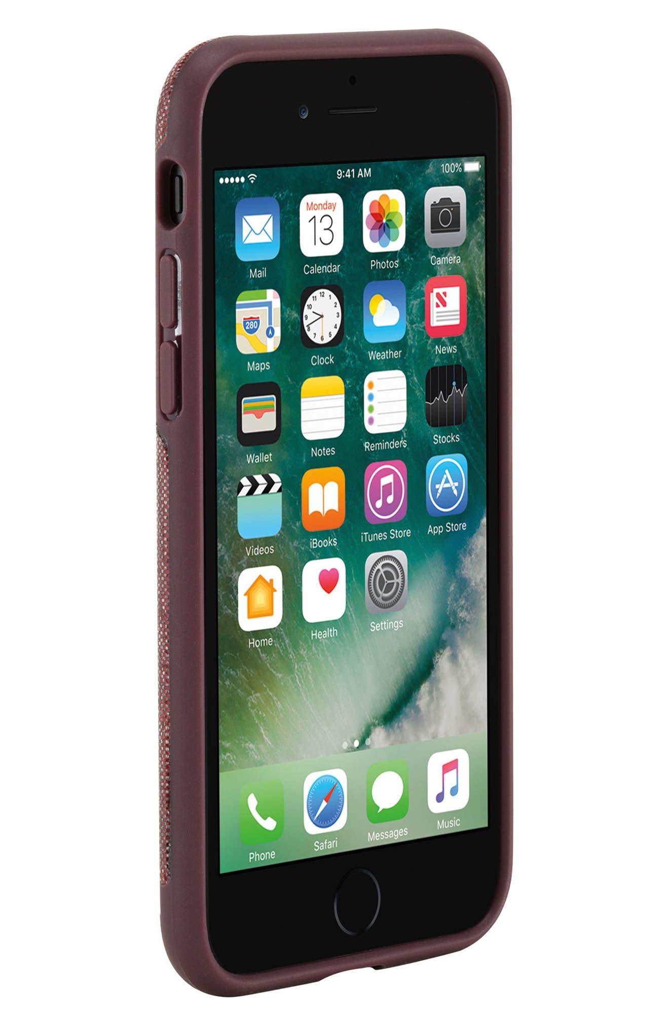INCASE DESIGNS,                             Textured Snap iPhone 7 & iPhone 8 Case,                             Alternate thumbnail 5, color,                             001