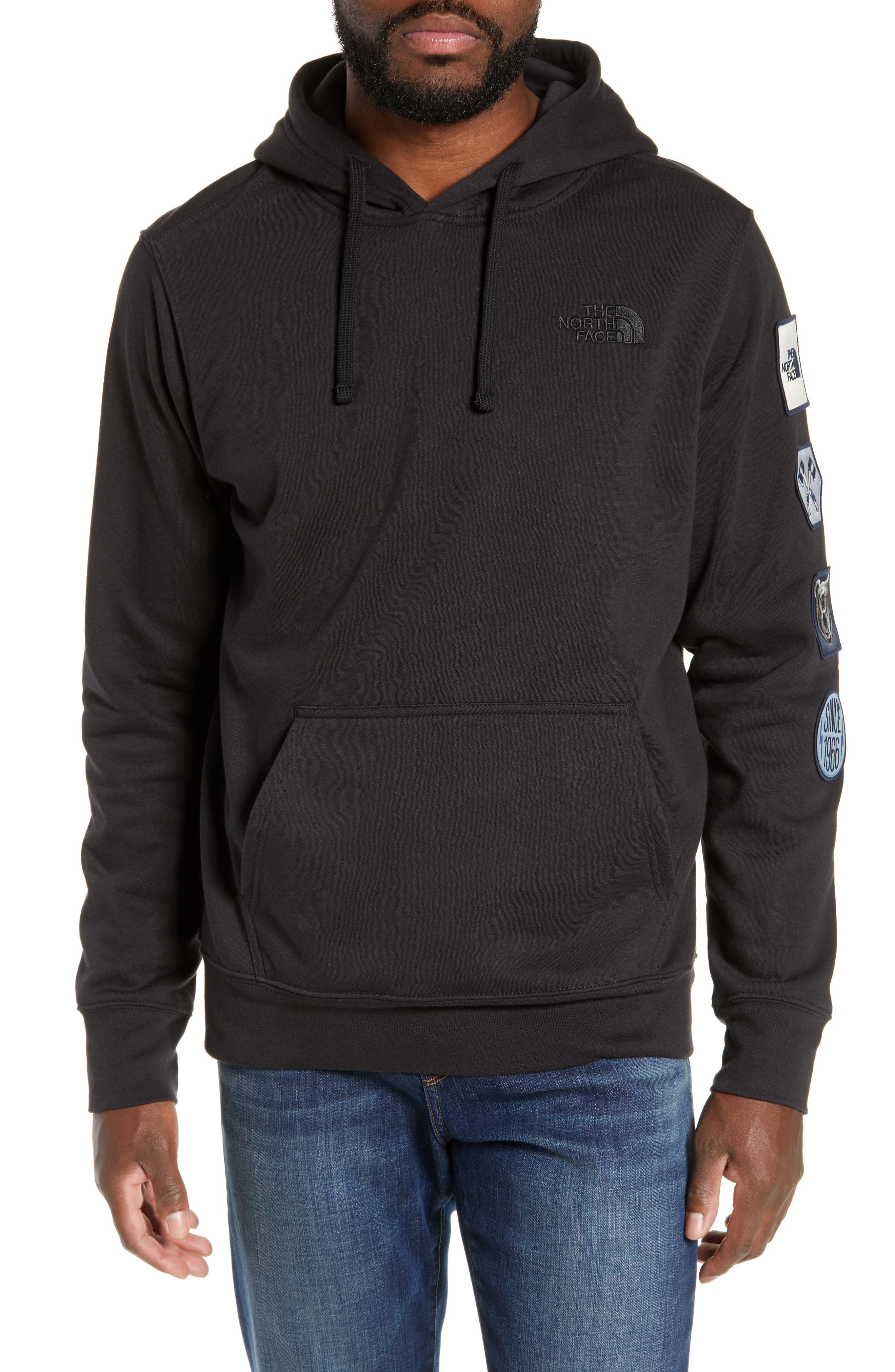 Urban Patches Hoodie, Main, color, 001