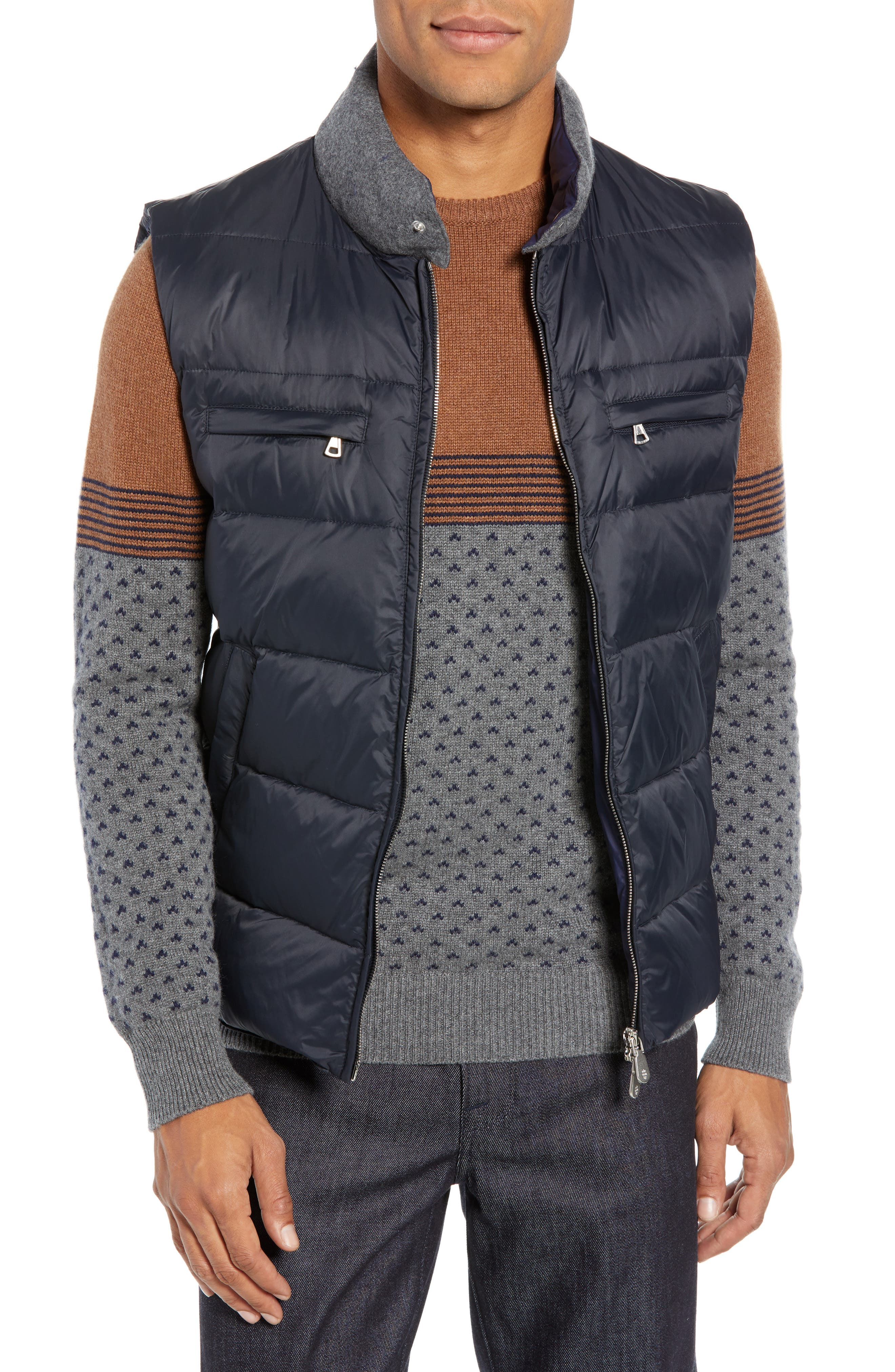 Quilted Vest,                         Main,                         color, NAVY