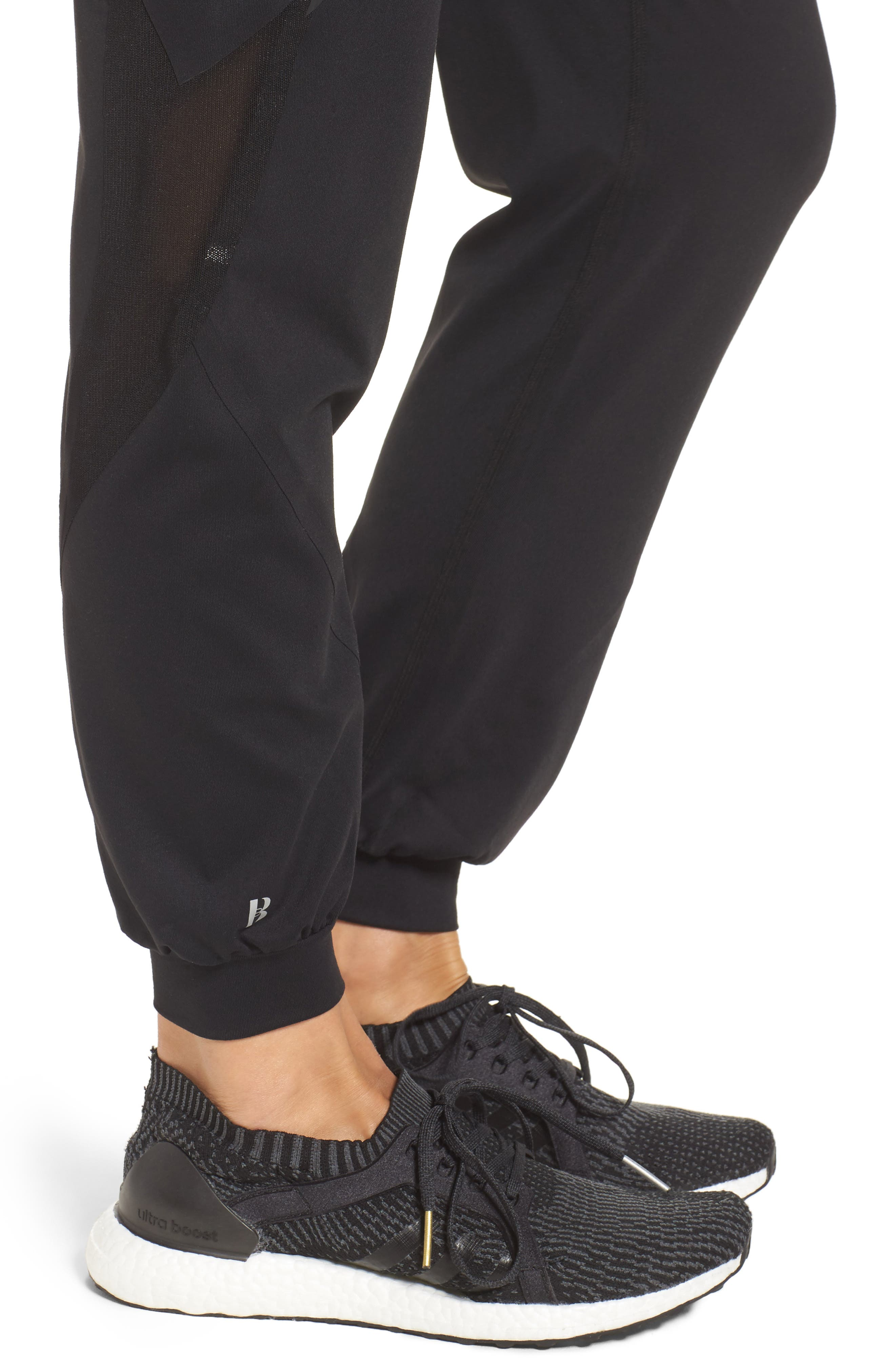 BoomBoom Athletica Track Pants,                             Alternate thumbnail 4, color,                             BLACK