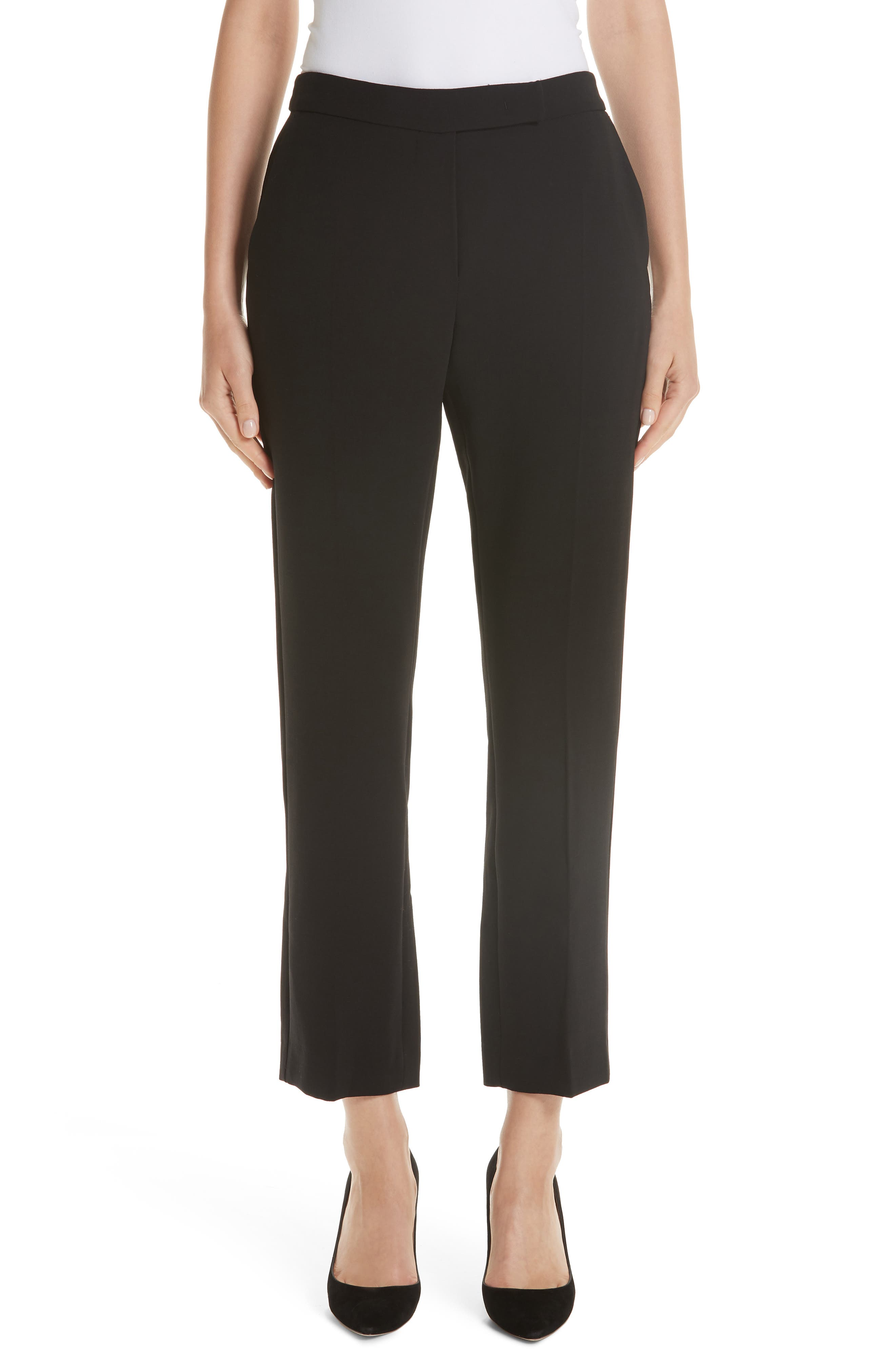 Ostile Straight-Leg Stretch-Wool Pants in Black