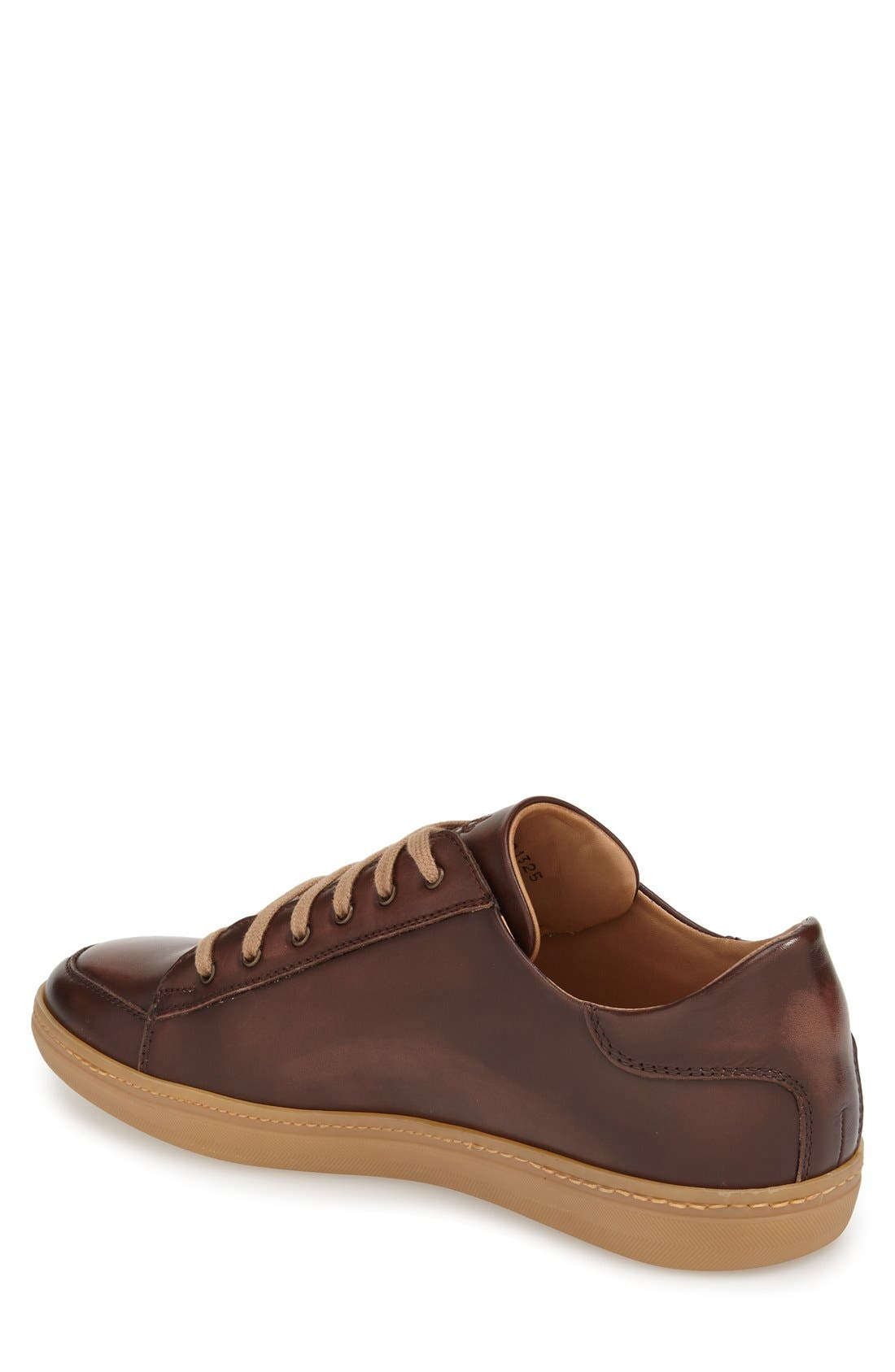 'Masi' Lace-Up Sneaker,                             Alternate thumbnail 2, color,                             BROWN