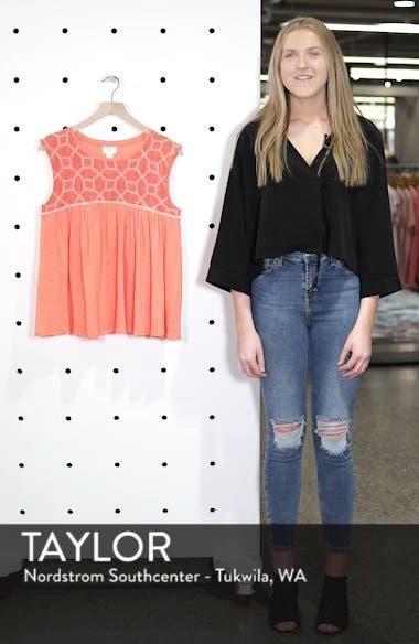 Mix Lace Knit Tank, sales video thumbnail