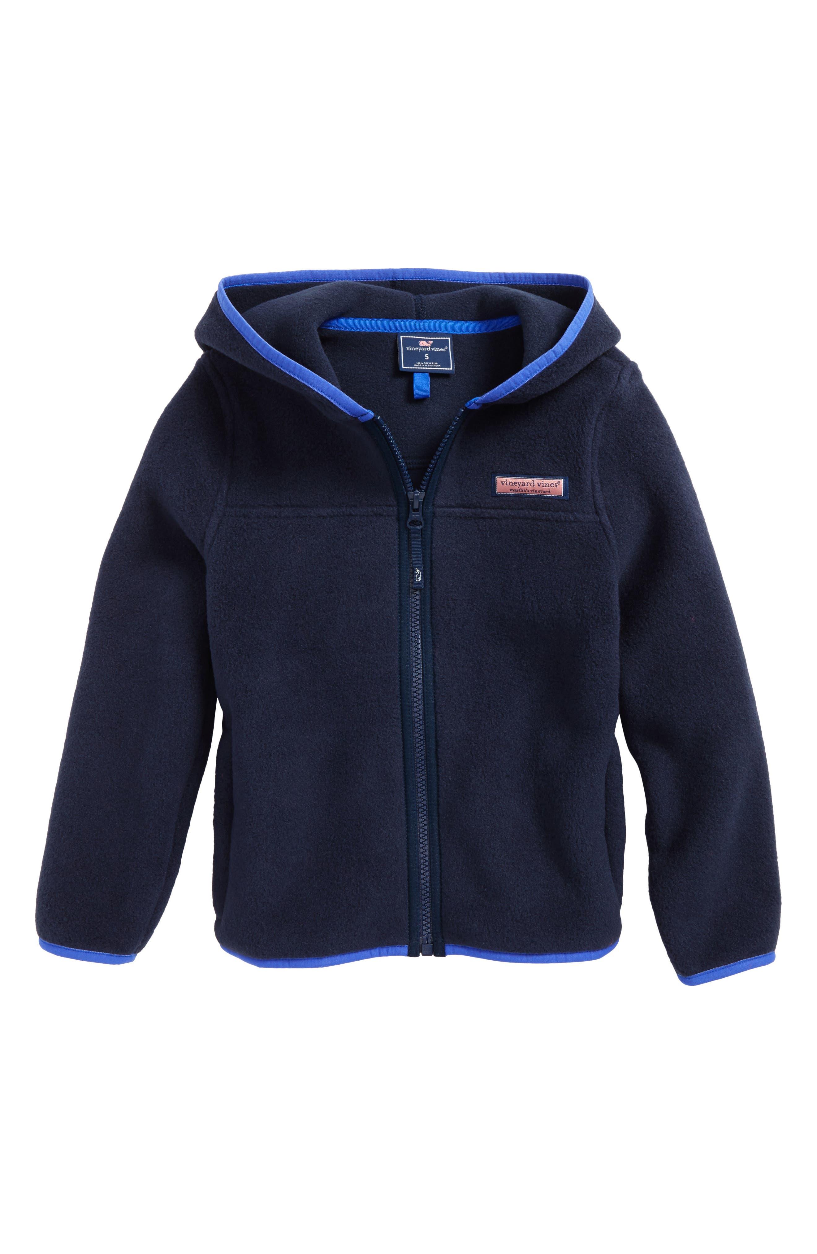Hooded Full Zip Fleece Jacket,                             Main thumbnail 1, color,