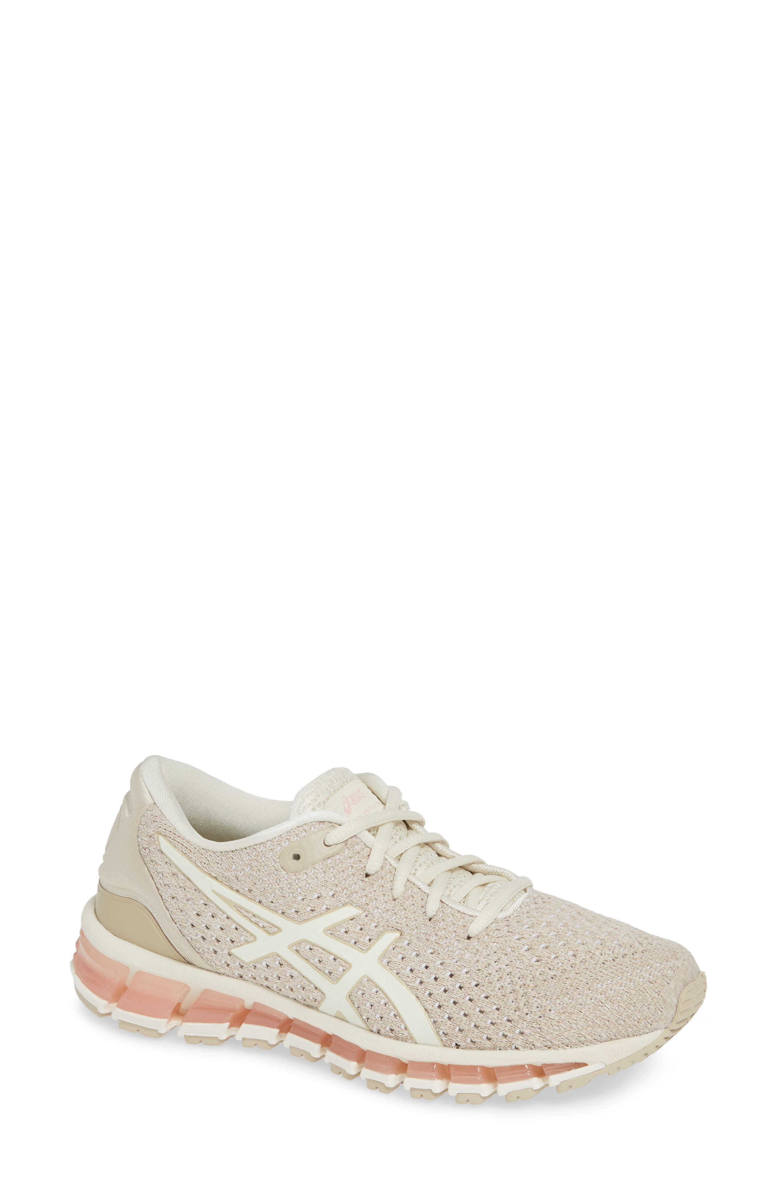 ASICS<SUP>®</SUP>,                             GEL-Quantum 360 Running Shoe,                             Main thumbnail 1, color,                             BIRCH/ FEATHER GREY
