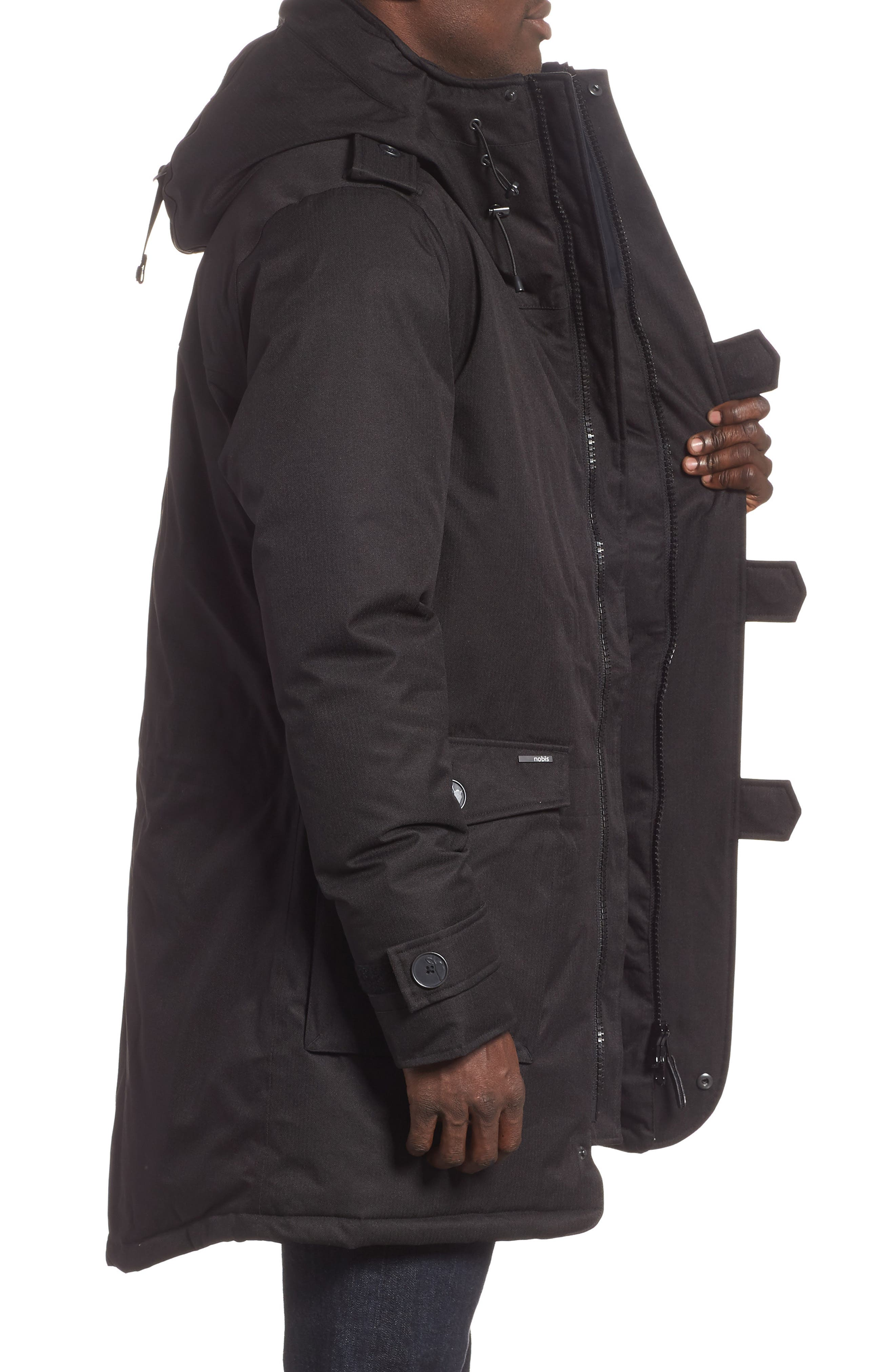 Shelby Windproof & Waterproof 650-FIll Power Down Military Fishtail Parka,                             Alternate thumbnail 3, color,                             001