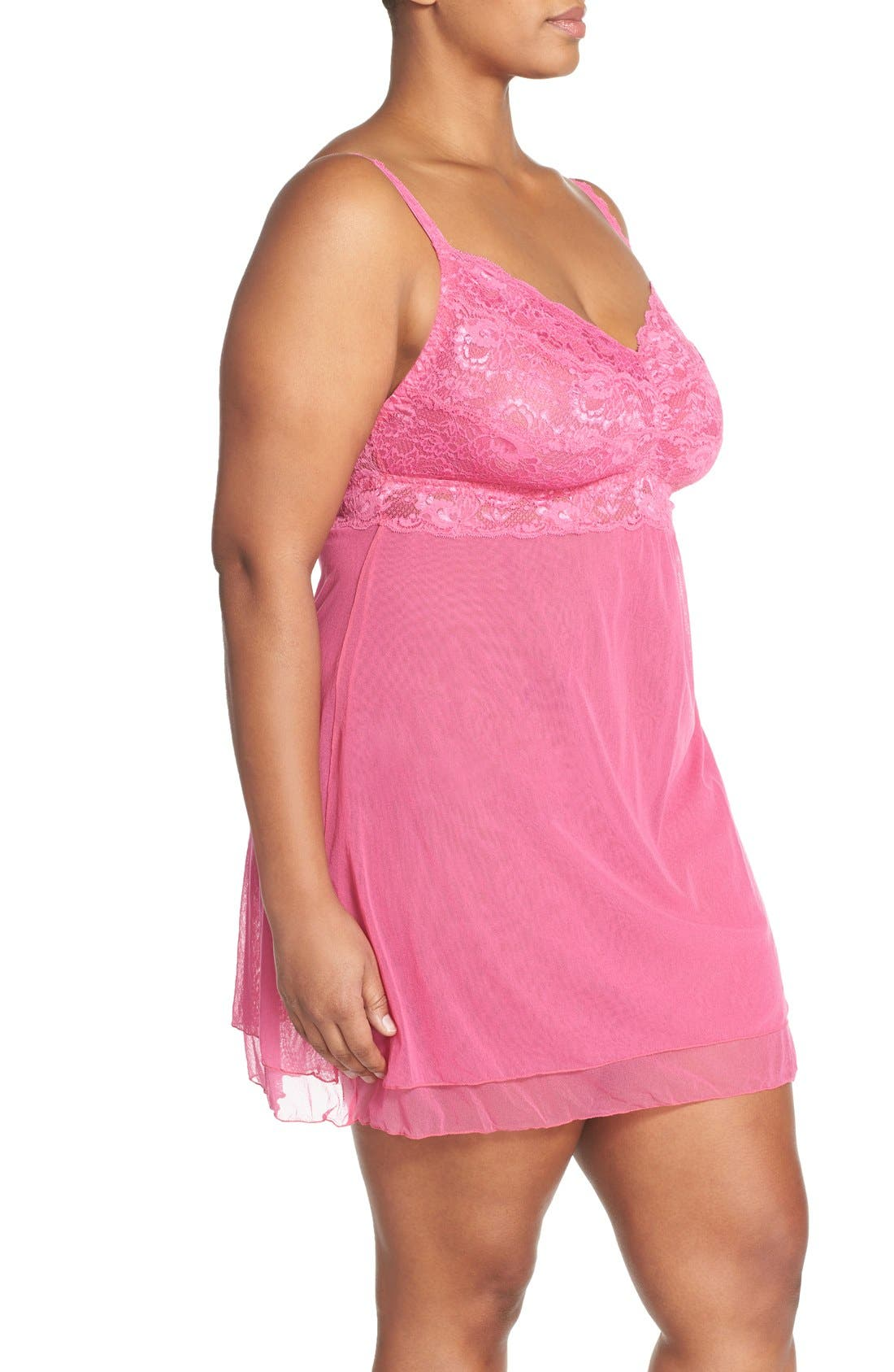 'Never Say Never' Babydoll Chemise,                             Alternate thumbnail 12, color,