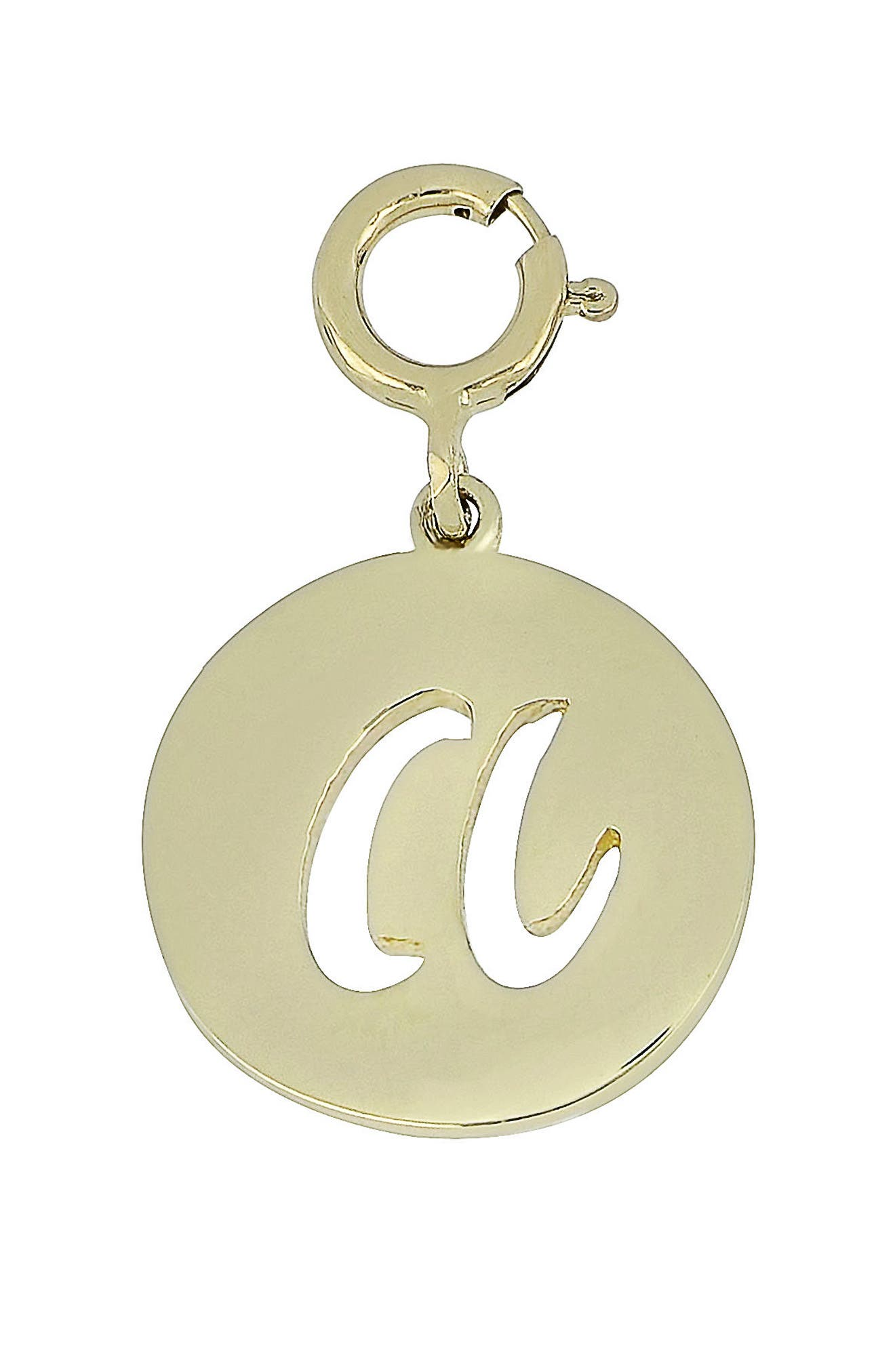 14k Gold Initial Charm,                             Main thumbnail 1, color,                             YELLOW GOLD- A