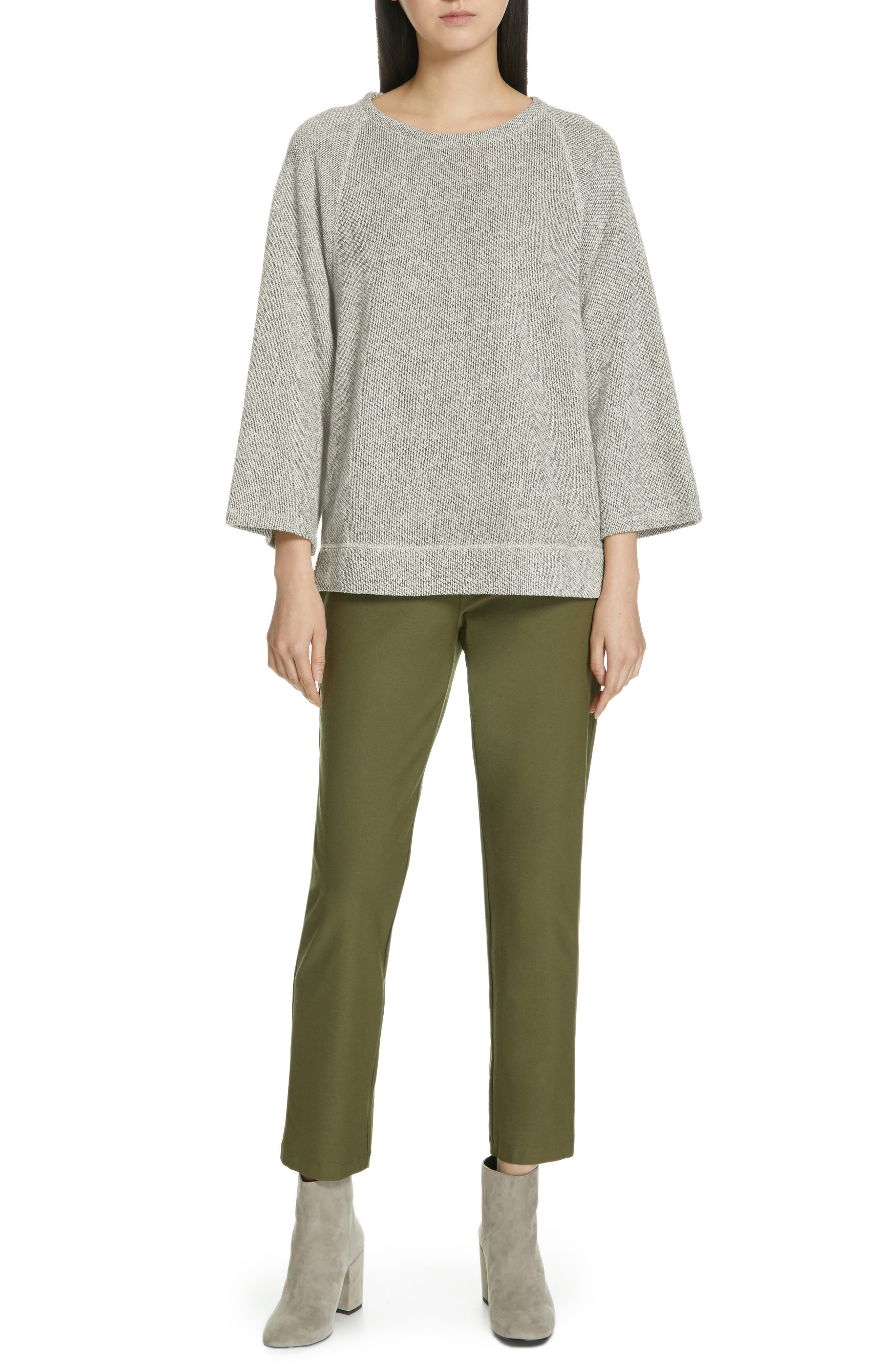 Stretch Crepe Ankle Pants,                             Alternate thumbnail 8, color,                             OLIVE