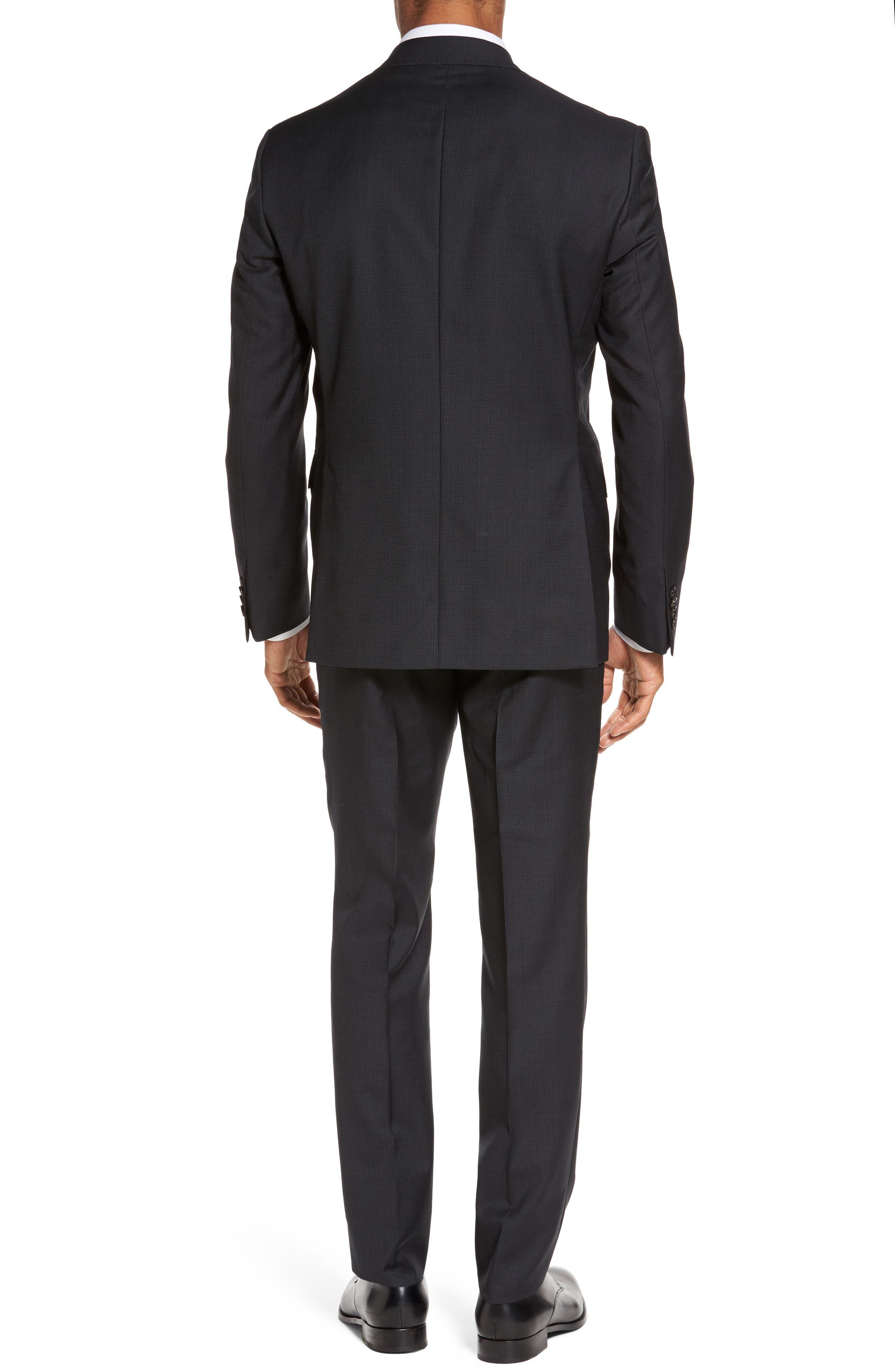 Roger Trim Fit Solid Wool Suit,                             Alternate thumbnail 2, color,                             001