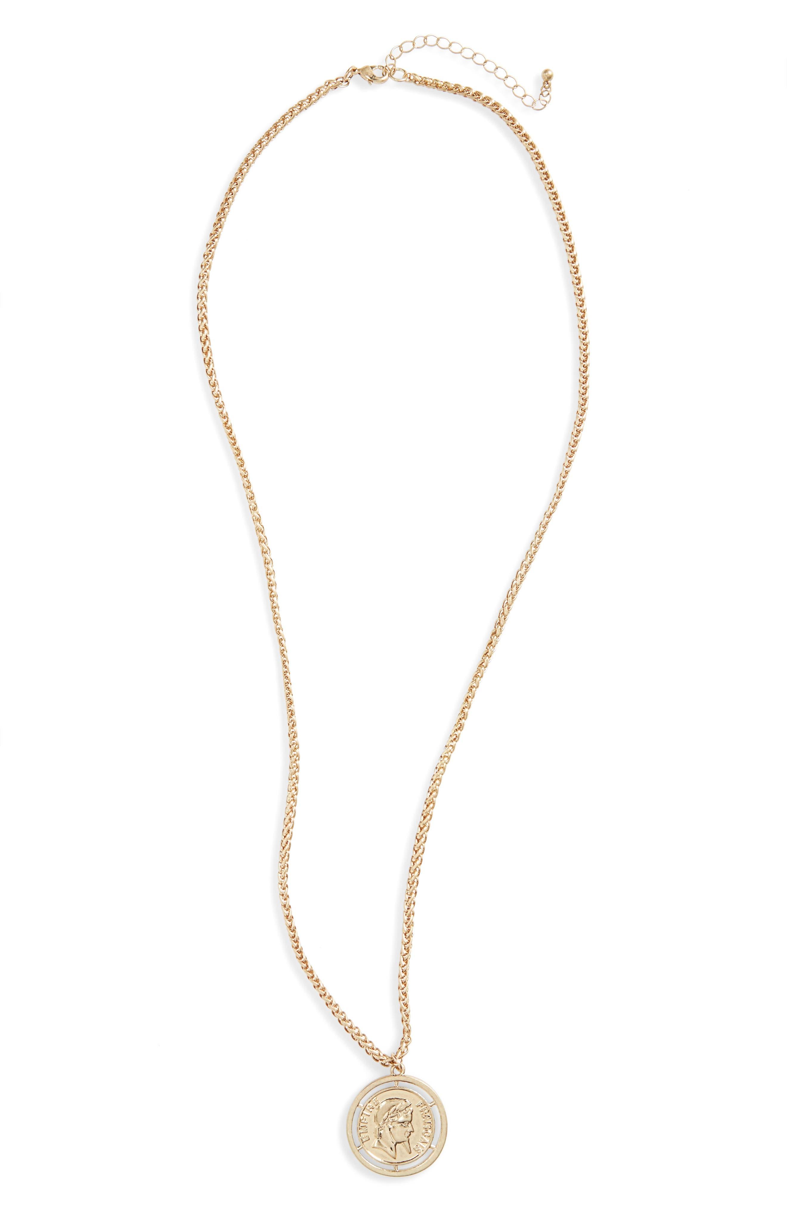 Coin Pendant Necklace,                             Main thumbnail 1, color,                             710