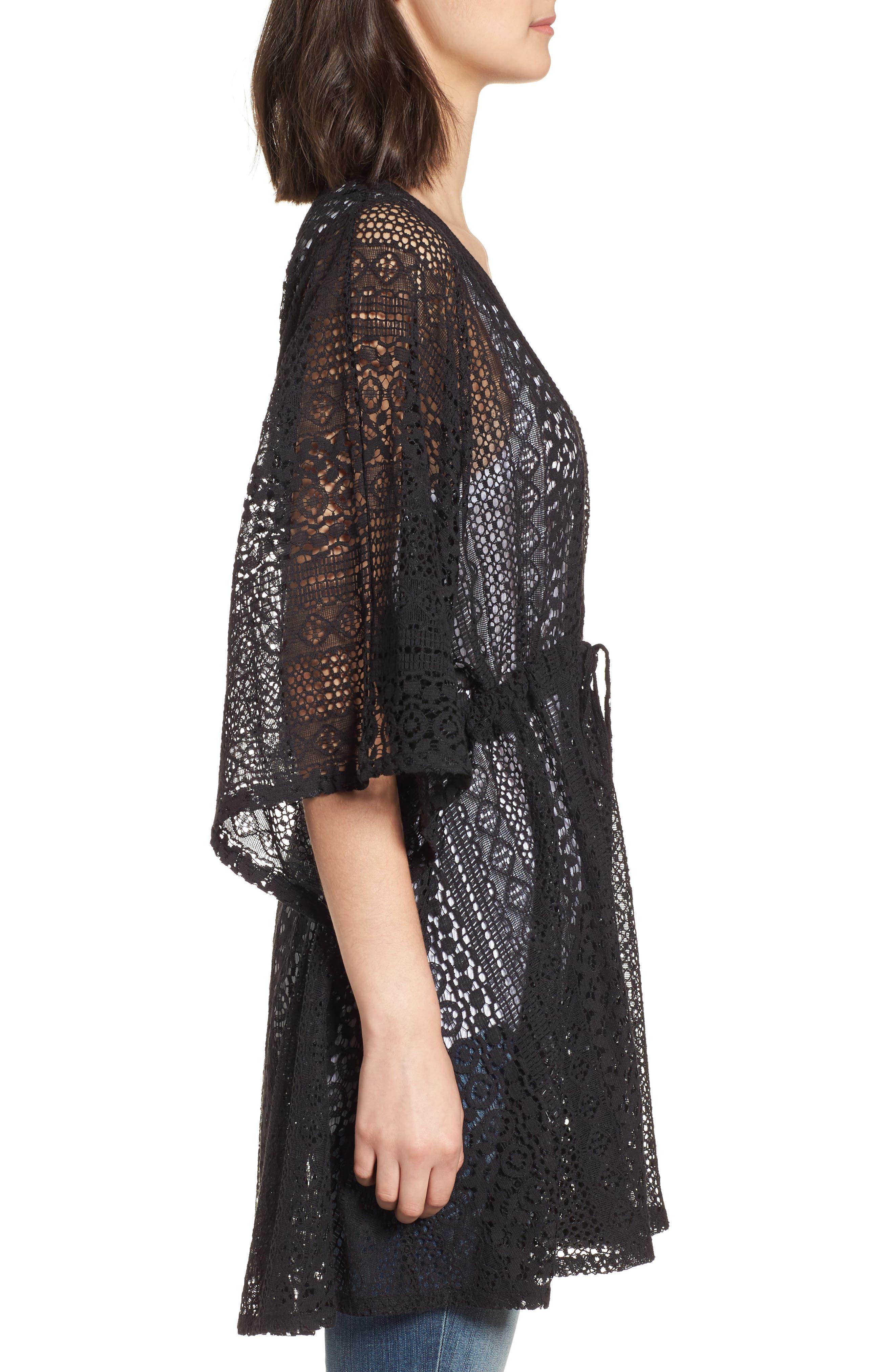 Lace Kimono Pullover,                             Alternate thumbnail 5, color,