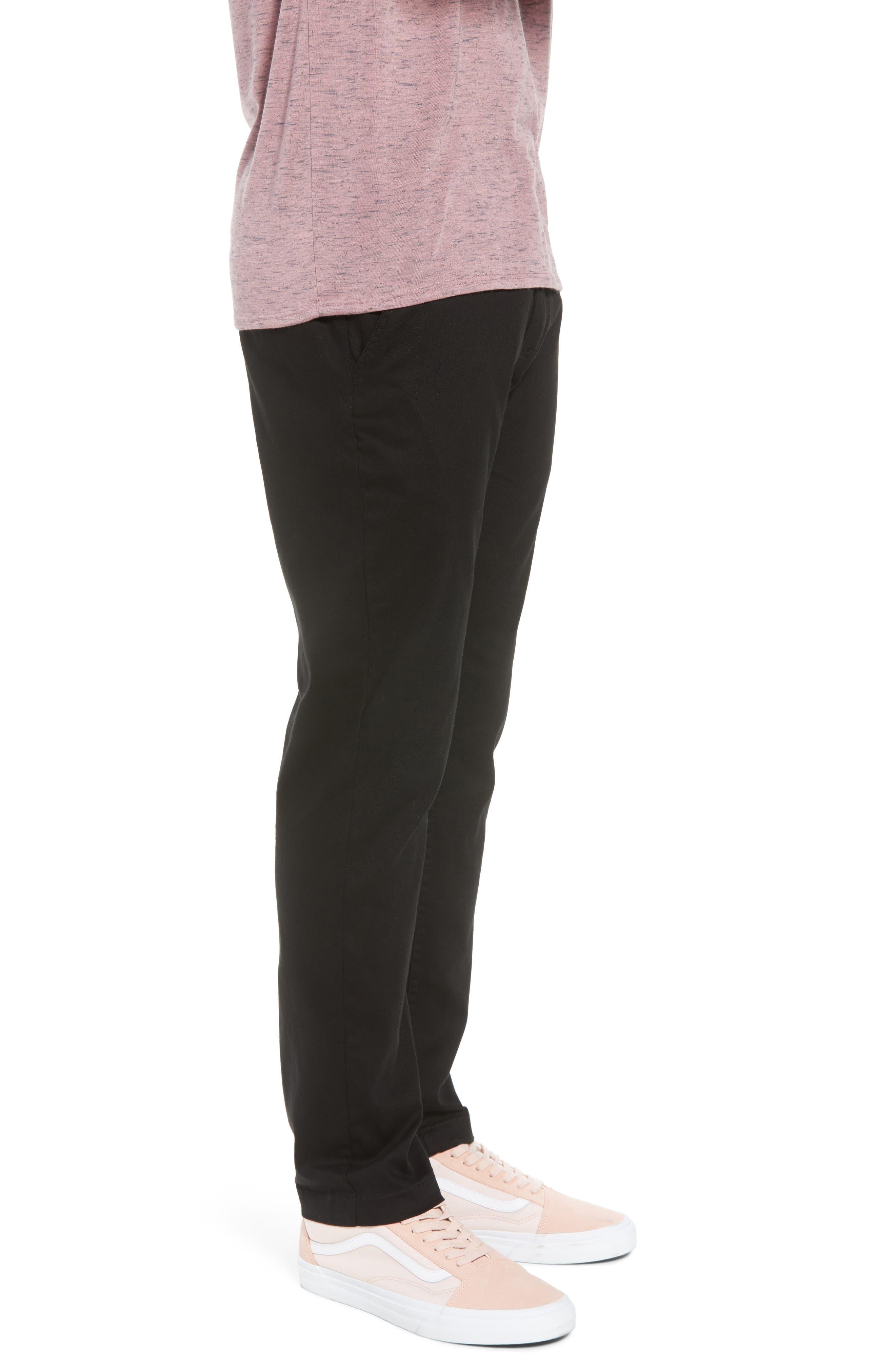 Crossroad Slim Fit Pants,                             Alternate thumbnail 3, color,                             BLACK