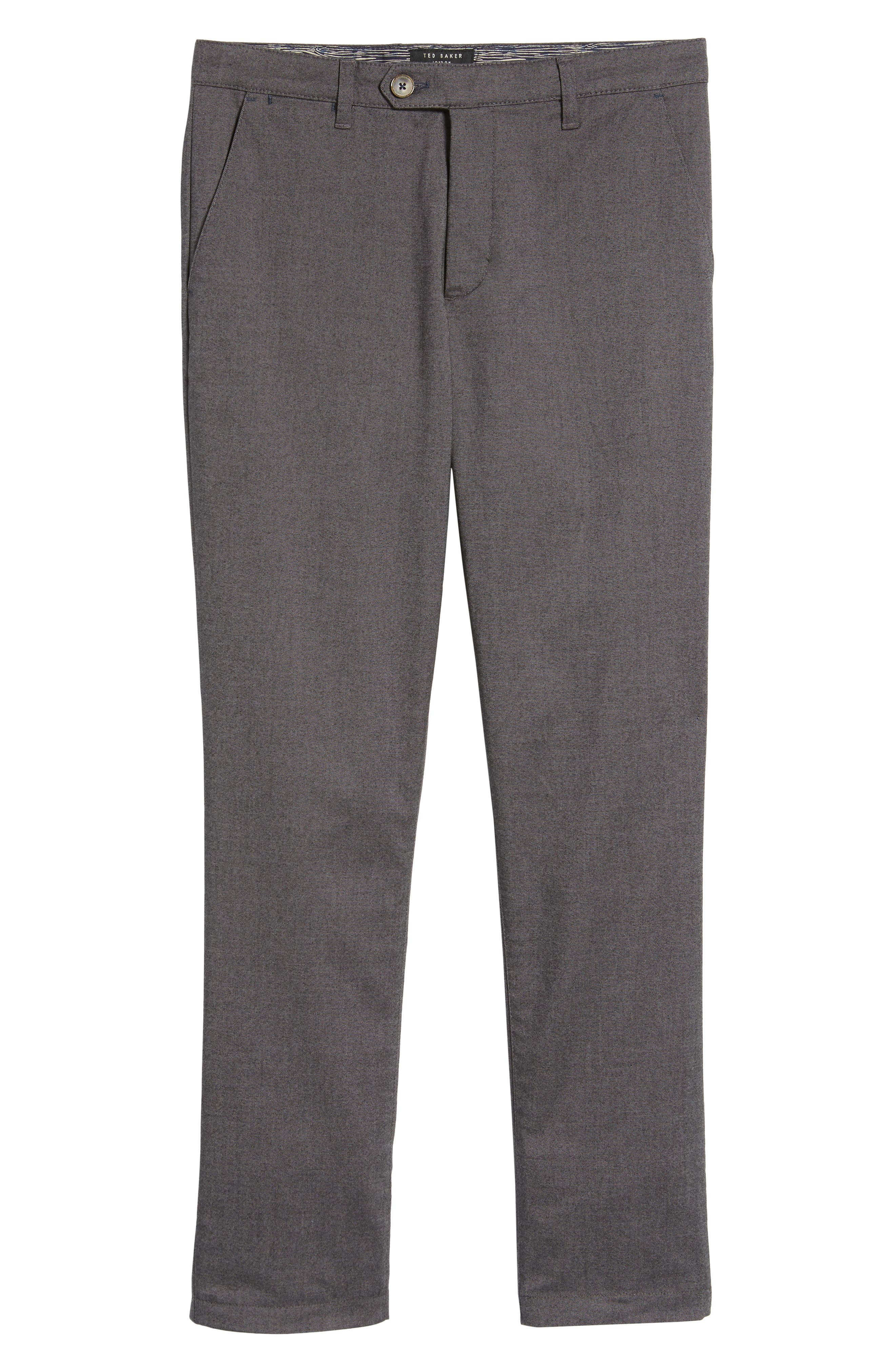 Modern Slim Fit Trousers,                             Alternate thumbnail 6, color,                             010