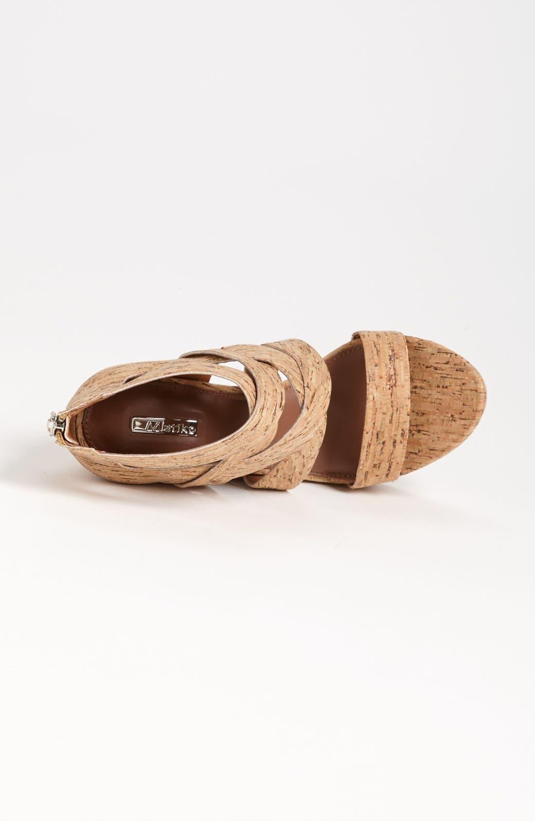 'Crisscross' Wedge Sandal,                             Alternate thumbnail 3, color,
