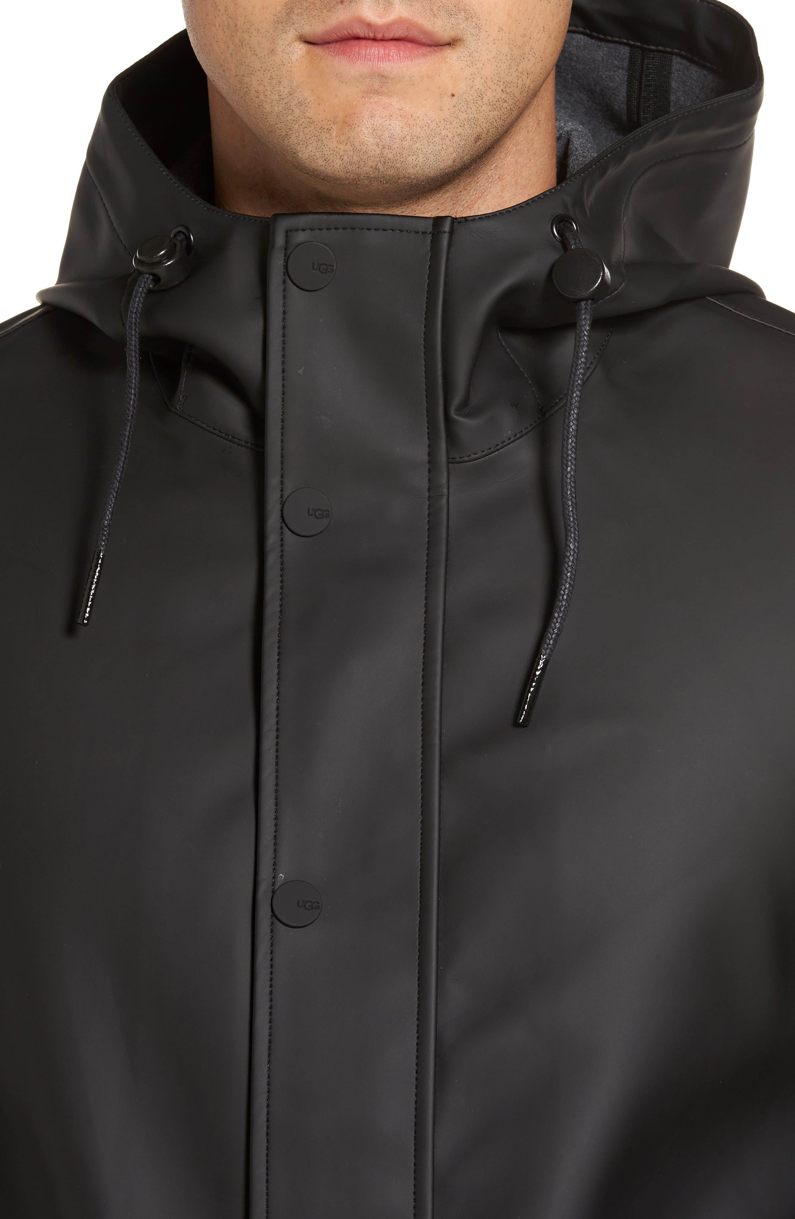 UGG<SUP>®</SUP>,                             Hooded Raincoat,                             Alternate thumbnail 4, color,                             001