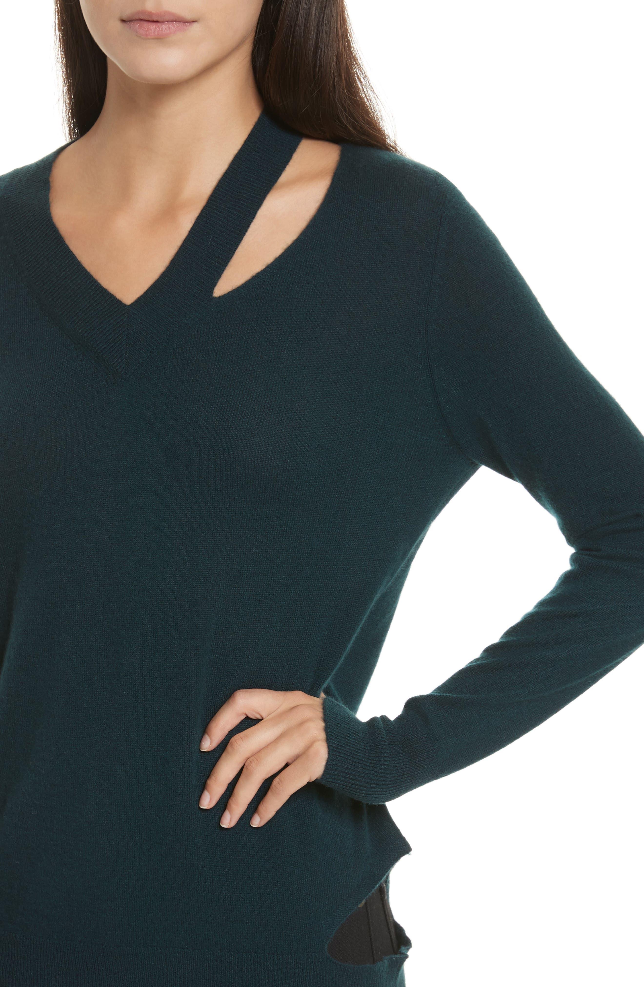 Cashmere Slash Boyfriend Sweater,                             Alternate thumbnail 4, color,                             232