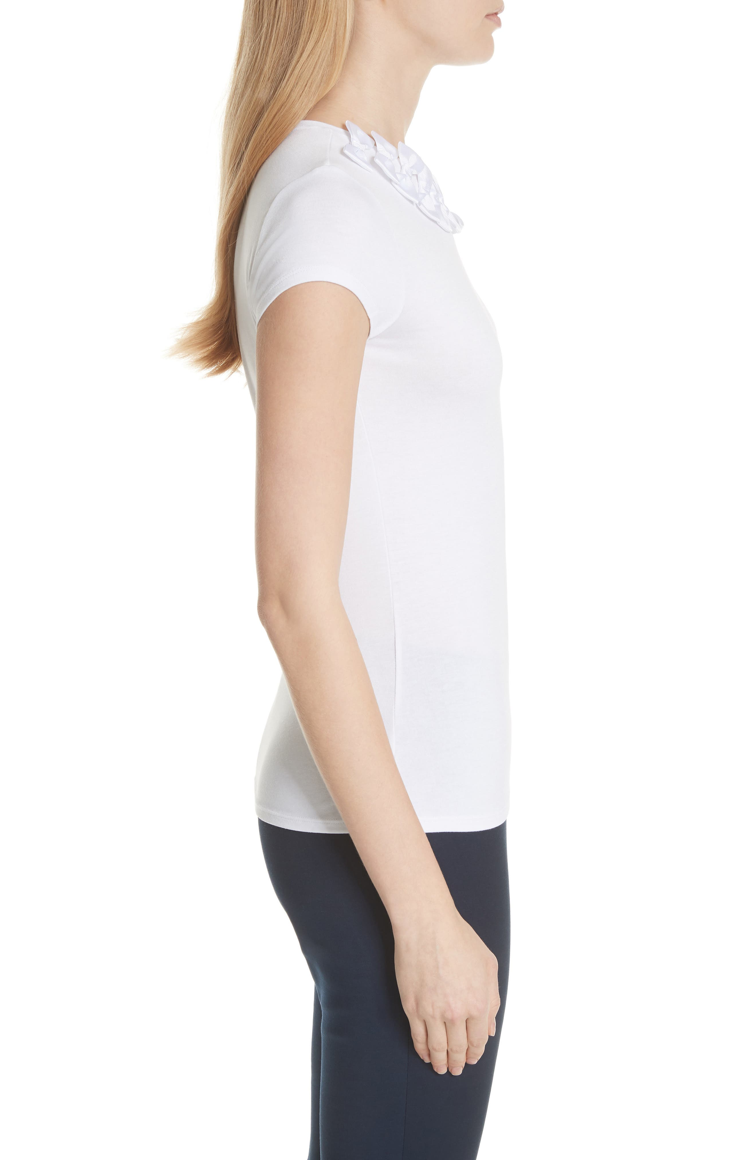 Ted Baker Bow Trim Tee,                             Alternate thumbnail 5, color,