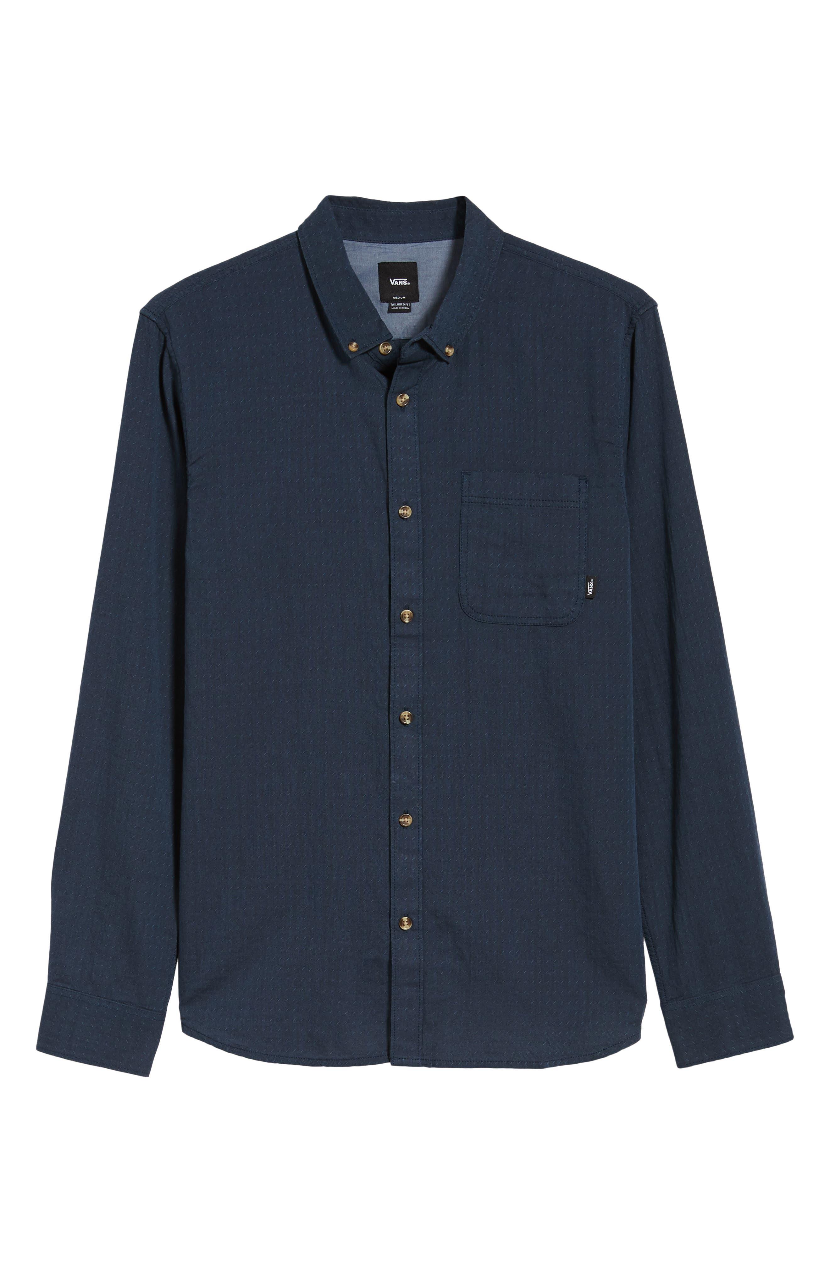 Wakefield Woven Shirt,                             Alternate thumbnail 5, color,                             DRESS BLUES